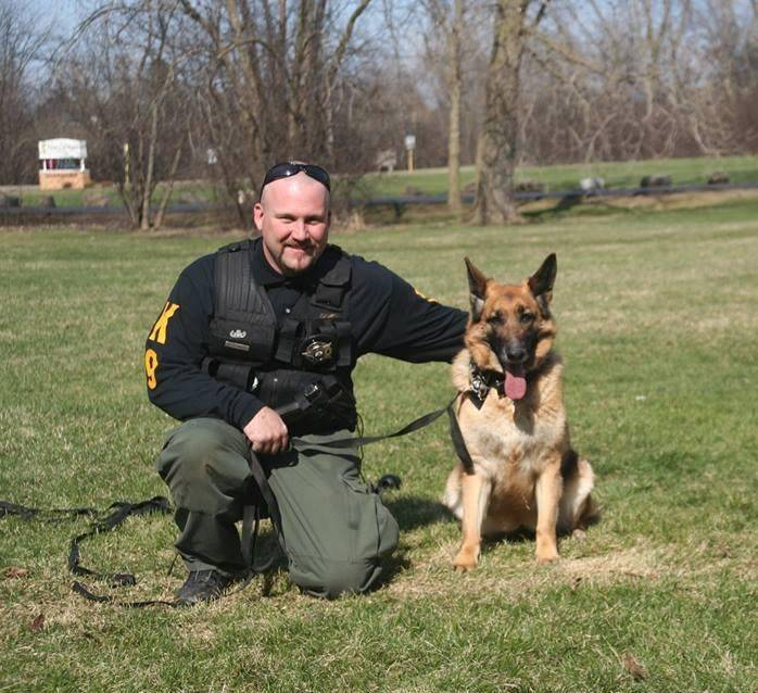 Officer Terry Kaminski and K9 Officer Nadja of Seldin Security, along with K9 Officer Star, visited the Animal Hospital of Lake Villa as part of the hospital's Therapy Reading and Egg Hunt event on Saturday, April 19.