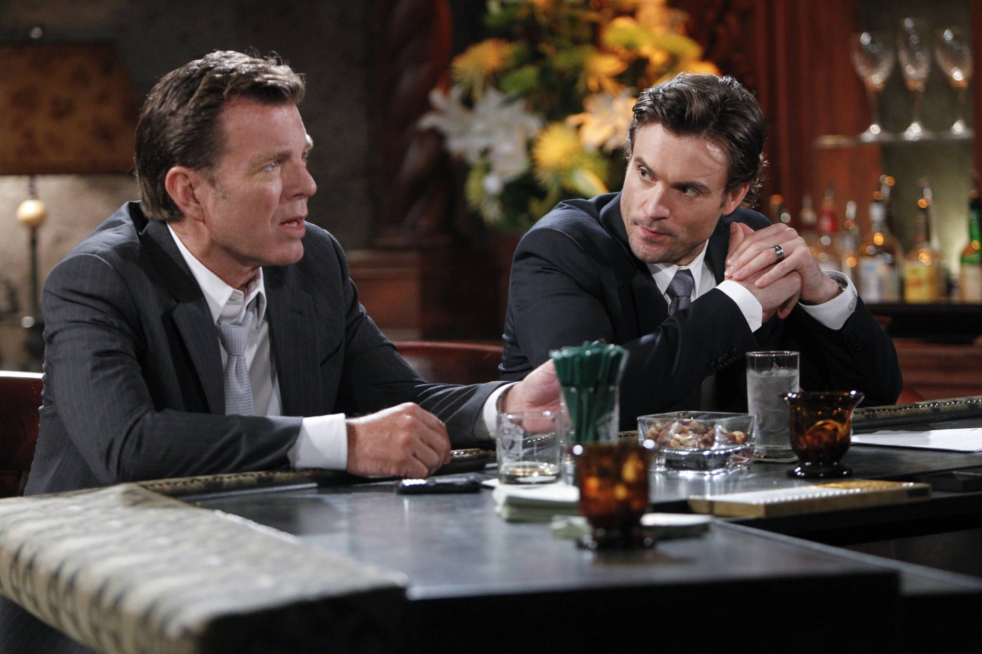 "Peter Bergman, left, and Daniel Goddard star in ""The Young & The Restless."" The daytime drama series is ahead of the pack with 26 Daytime Emmy nominations, including best daytime drama."