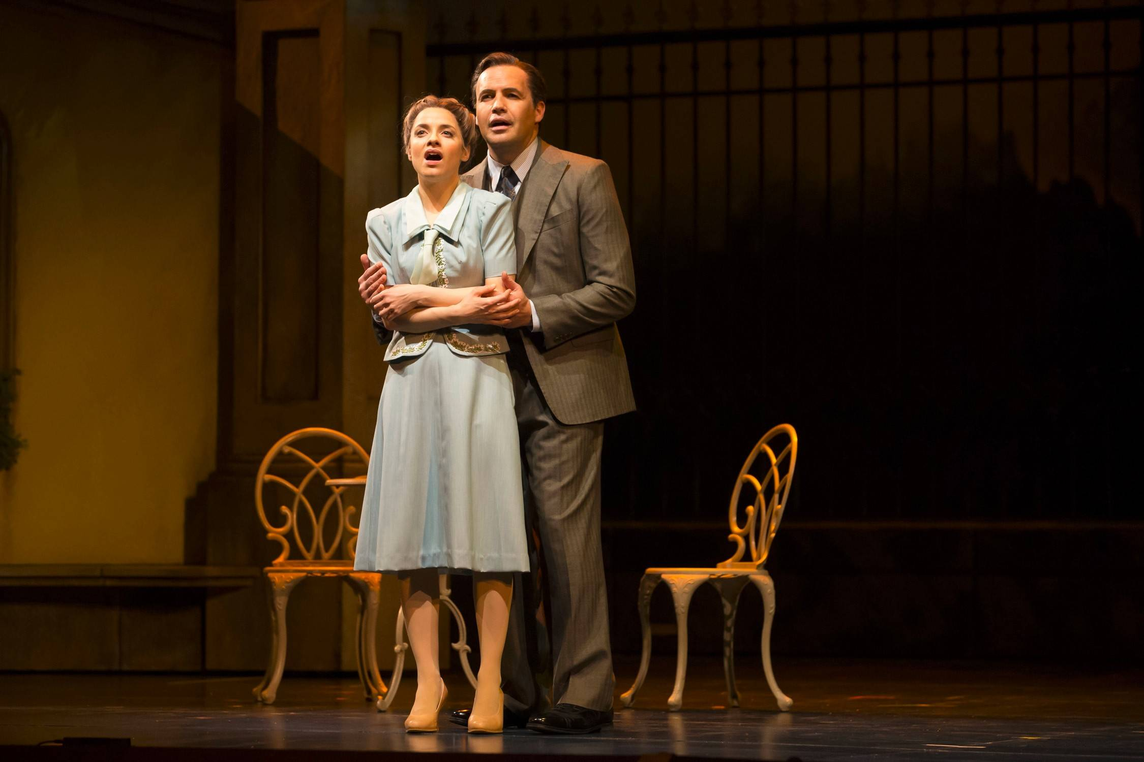 "Maria (Jenn Gambatese) and Captain von Trapp (Billy Zane) admit their feelings for each other in director Marc Bruni's entertaining revival of Rodgers and Hammerstein's ""The Sound of Music"" at the Lyric Opera of Chicago."