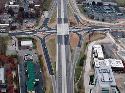 Photo Courtesy Missouri Department of TransportationMissouri is a diverging diamond interchange pioneer, building its third in 2010 on I-270.