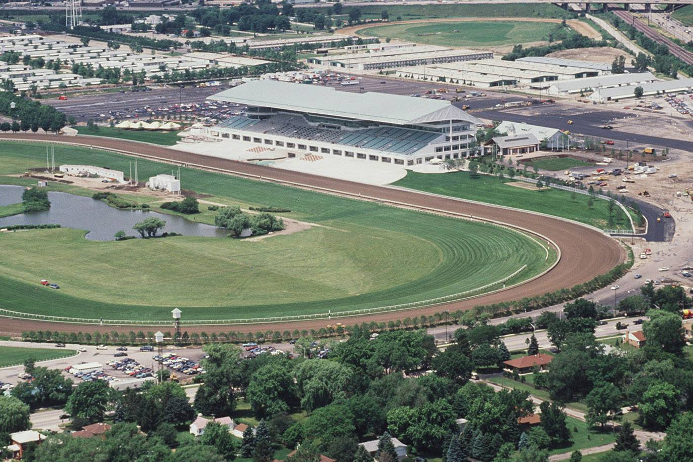 The new Arlington International Racecourse is ready for racing in July 1989 after a fire destoyed the original in 1985.