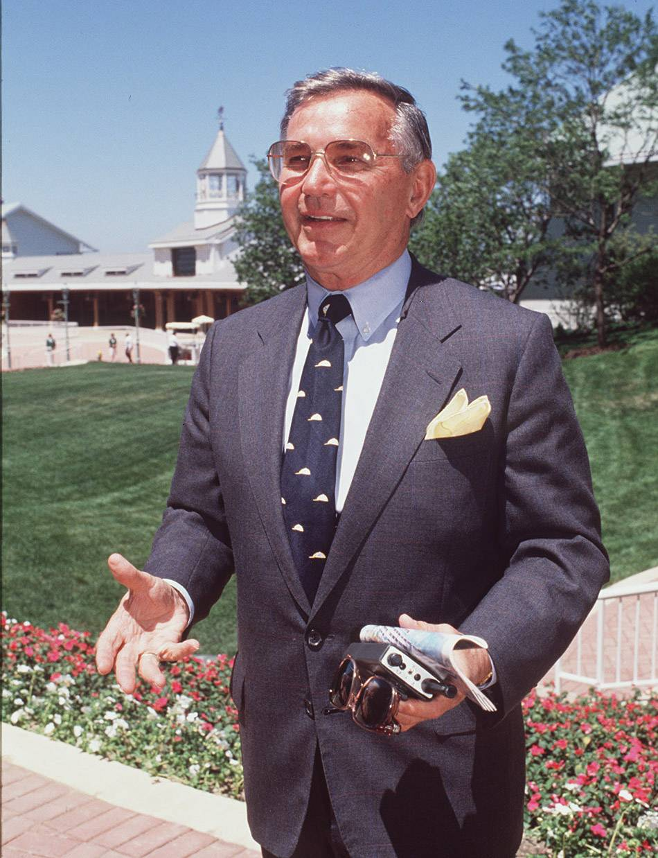 Arlington International Racecourse owner Richard  Duchossois during the grand opening of the new facility on July 1, 1989.