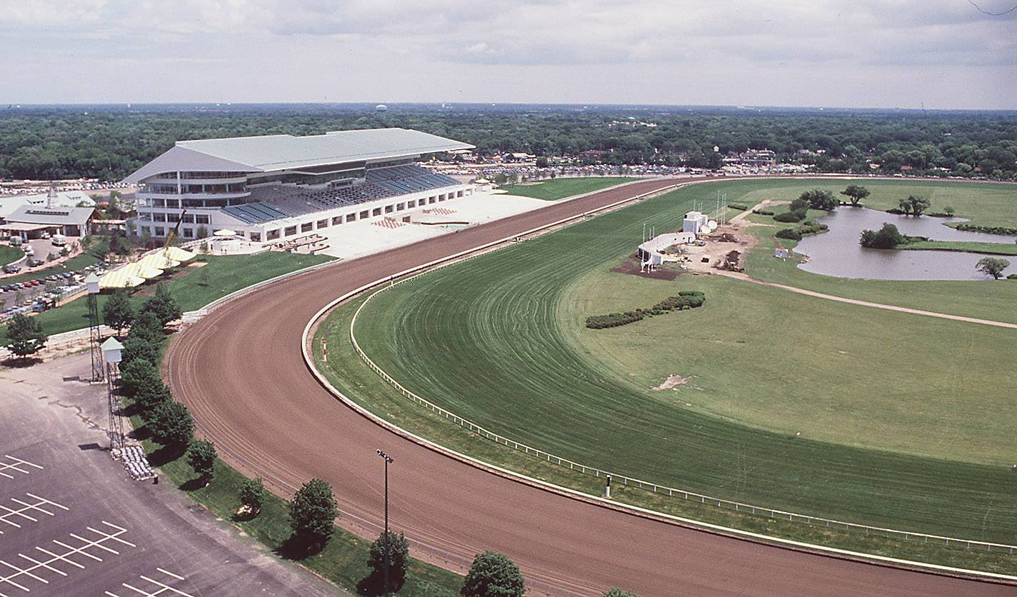 The new Arlington International Racecourse is ready for racing in July, 1989 after a fire destoyed the original in 1985.