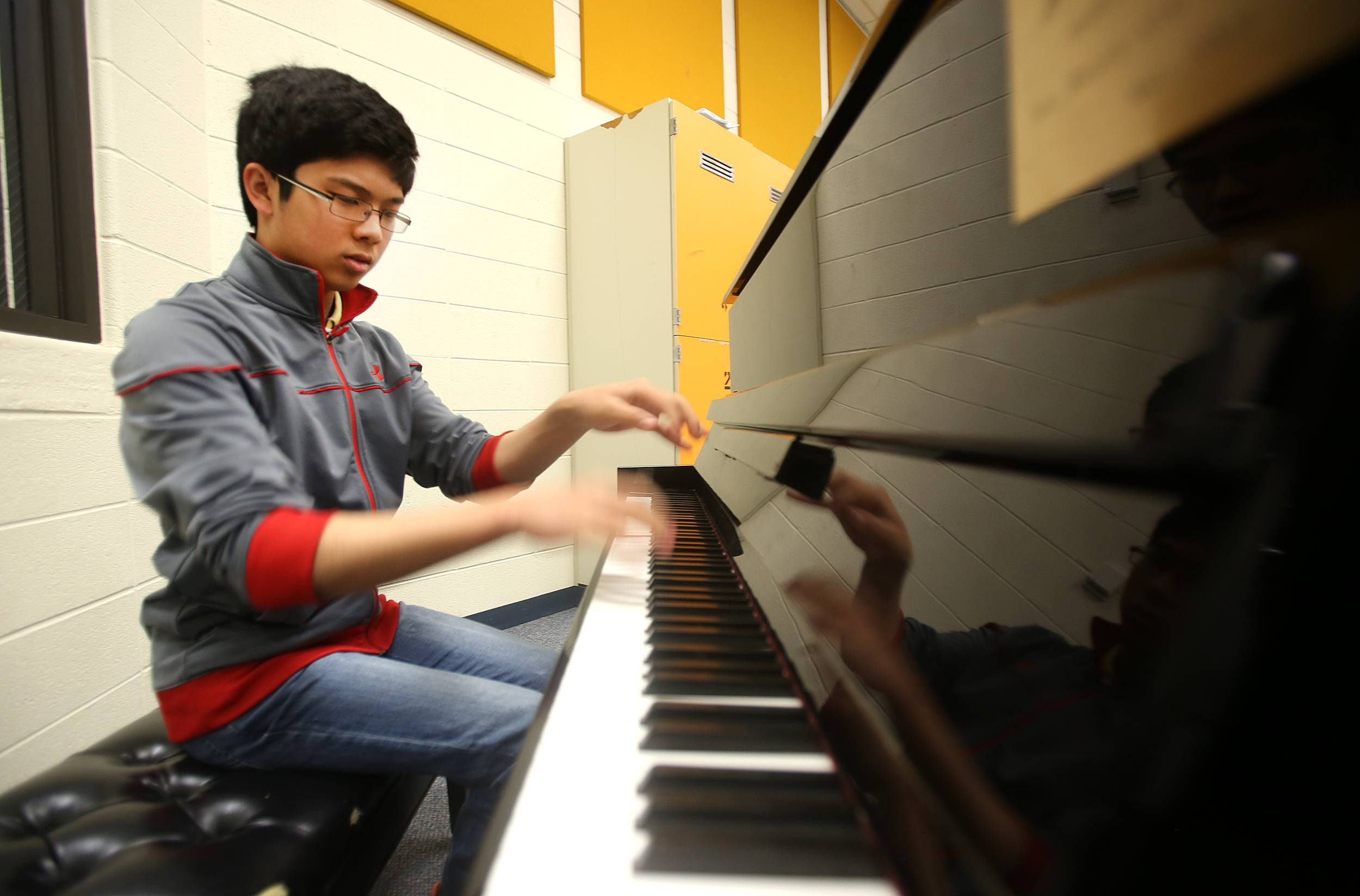 Timothy Zhou, a junior at the Illinois Mathematics and Science Academy, earned an honorable mention in music from the National YoungArts Foundation. The 17-year-old also excels in chess and mathematics.