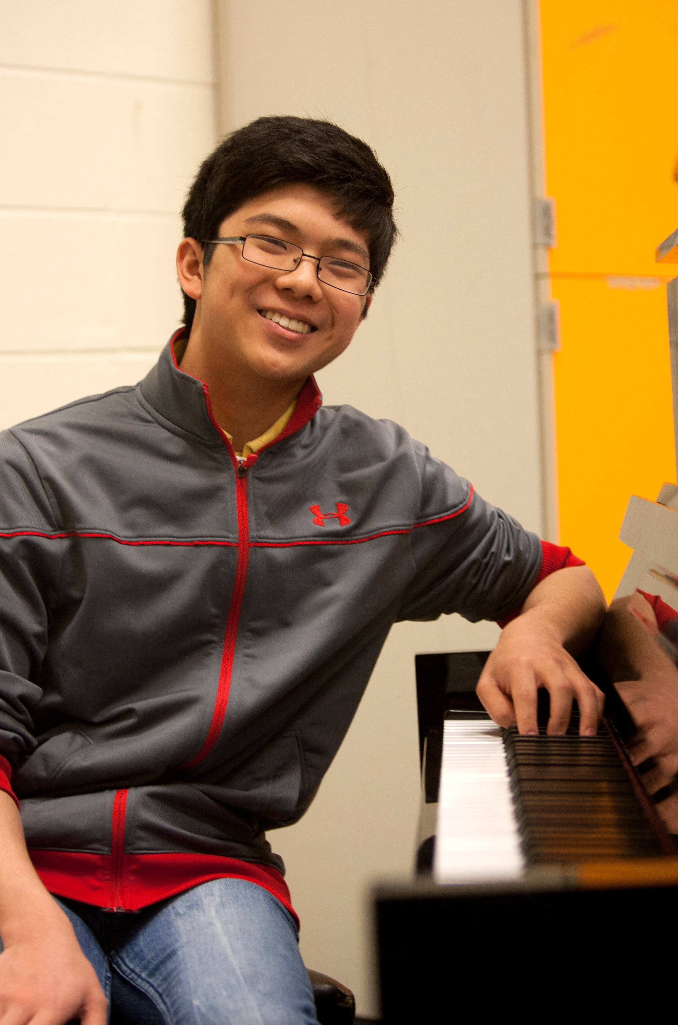 Timothy Zhou, 17, a junior at the Illinois Mathematics and Science Academy, is a National YoungArts Foundation honorable mention winner in music, an accomplished chess player and a fledgling mathematician. Recognizing patterns, he says, is key to succeeding in all three disciplines.