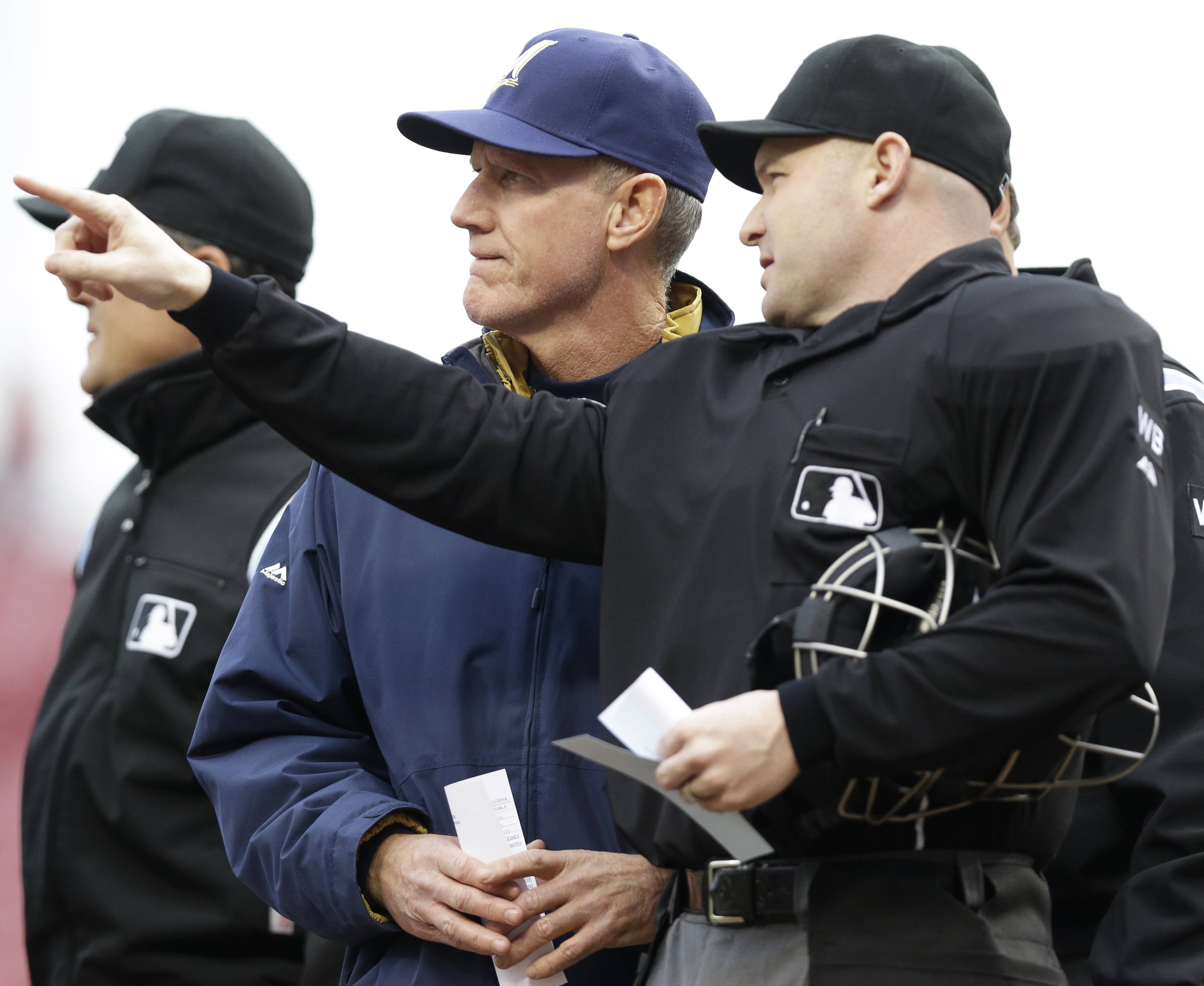 Manager Ron Roenicke's Milwaukee Brewers (20-8) have been the big surprise in the NL Central a month into the season.