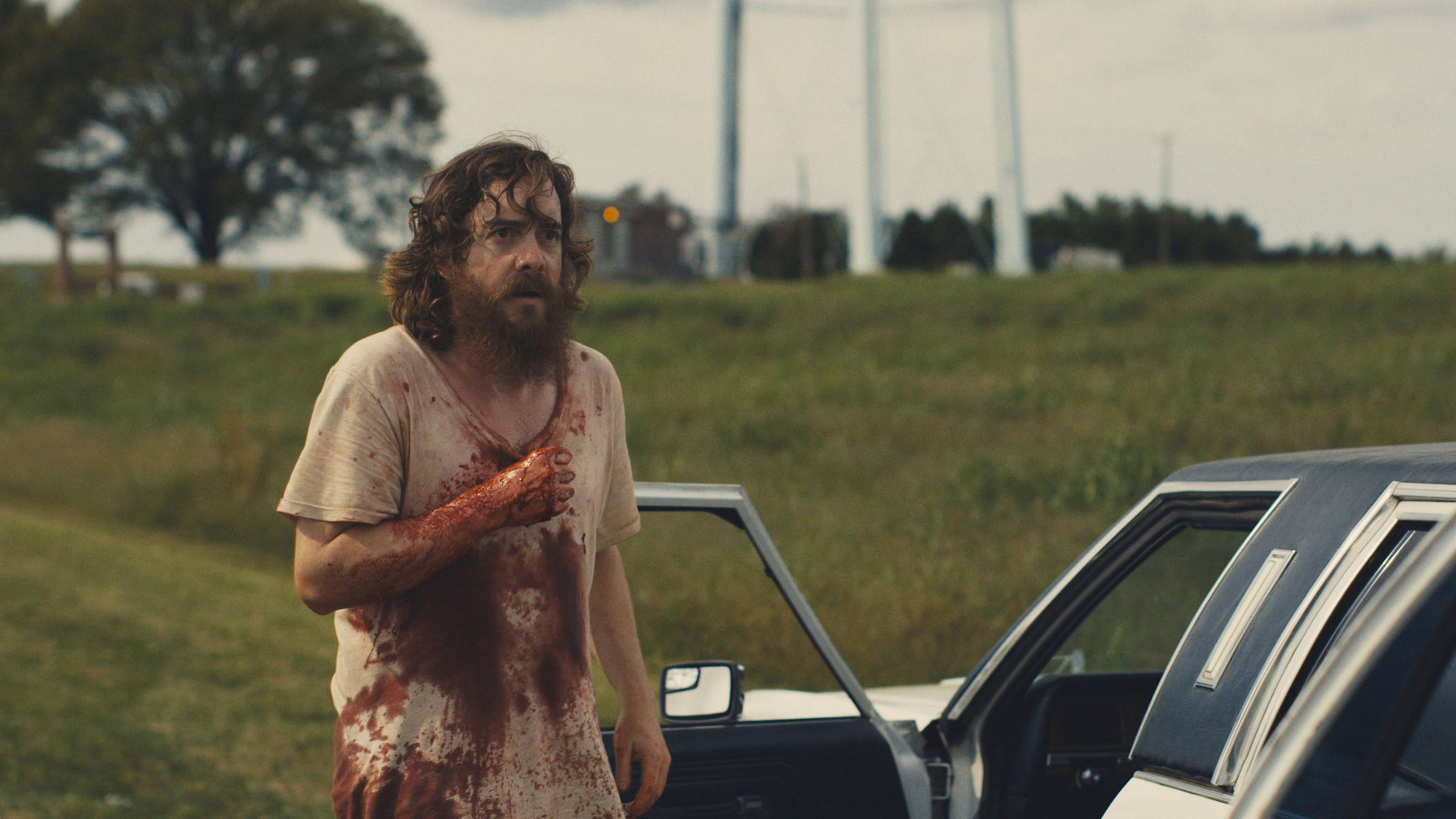 "Macon Blair stars as a loner on a terrifying mission in ""Blue Ruin."""