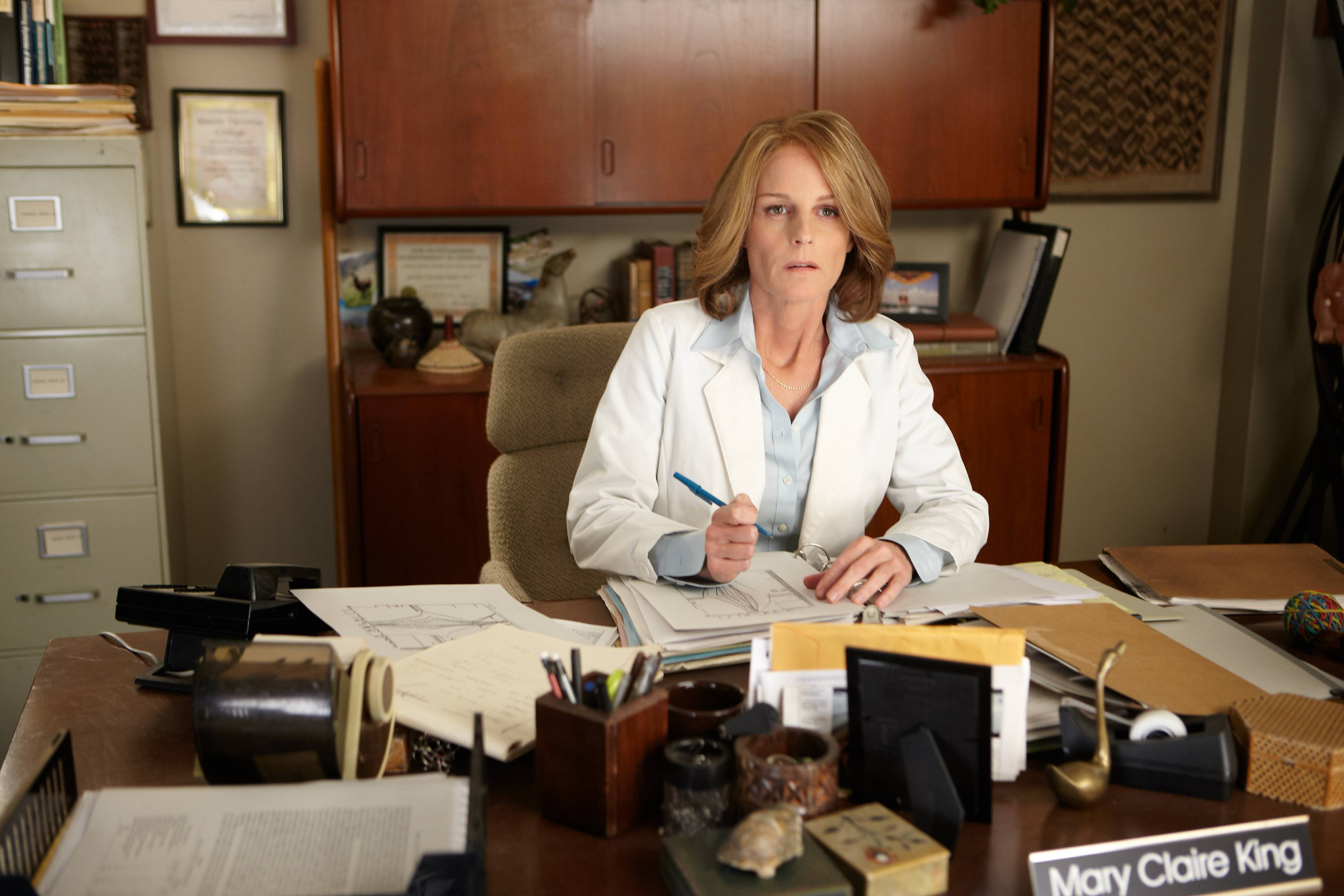 "Researcher Mary-Claire King (Helen Hunt) spends years seeking out the inherited mutation that indicates an elevated risk for breast and ovarian cancer in ""Decoding Annie Parker."""