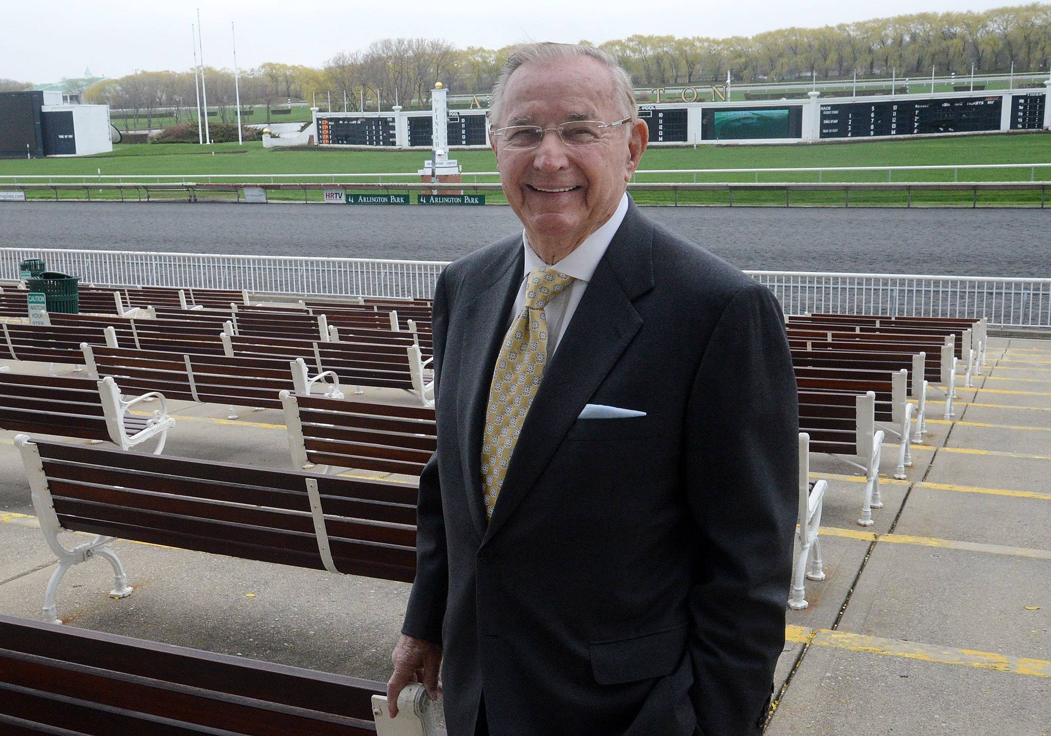 Arlington International Racecourse Chairman Richard Duchossois talks about the upcoming season and the 25th anniversary of the track's reopening after the fire.