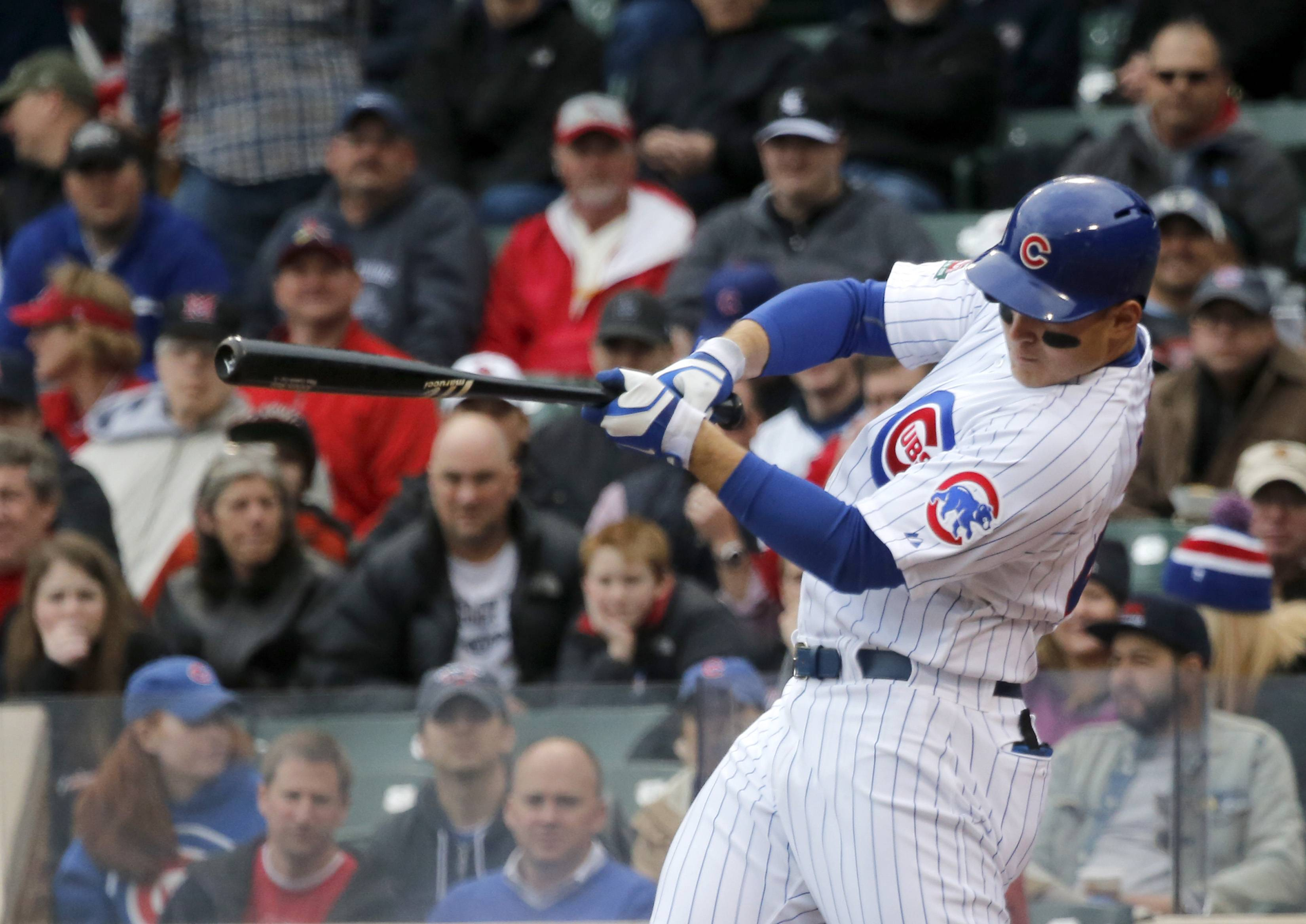Anthony Rizzo collected a 2-run single and and solo homer Friday in the Cubs' 6-5 victory over the Cardinals at Wrigley Field.