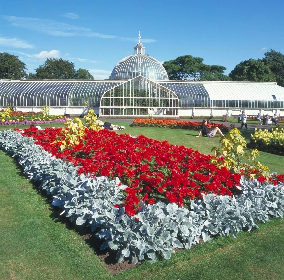 The Botanic Gardens in Glasgow, Scotland, is an internationally renowned garden in the heart of Glasgow's West End that includes more than 50 acres of formal gardens, woodland walks and glasshouses filled with plants. It's open daily and is free to visit.