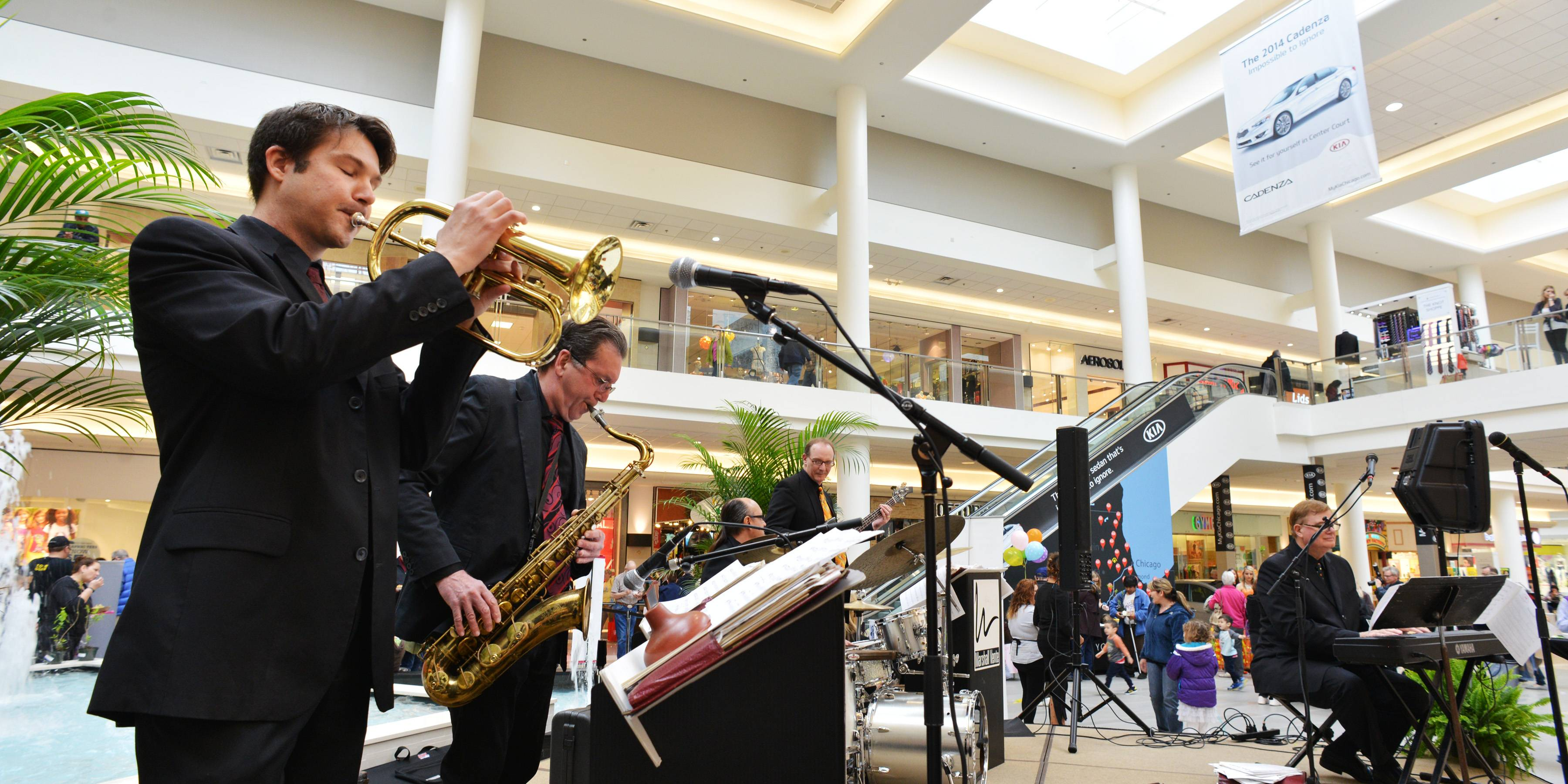 A live band, food samples from area restaurants and giveaways were featured at a ribbon-cutting Friday for a $20 million renovation project at Yorktown Center.