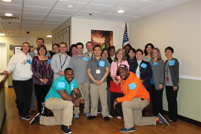 "Innovations Academy staff participate in Autism Awareness month by wearing their many ""Wishes.""Ann Johnson"