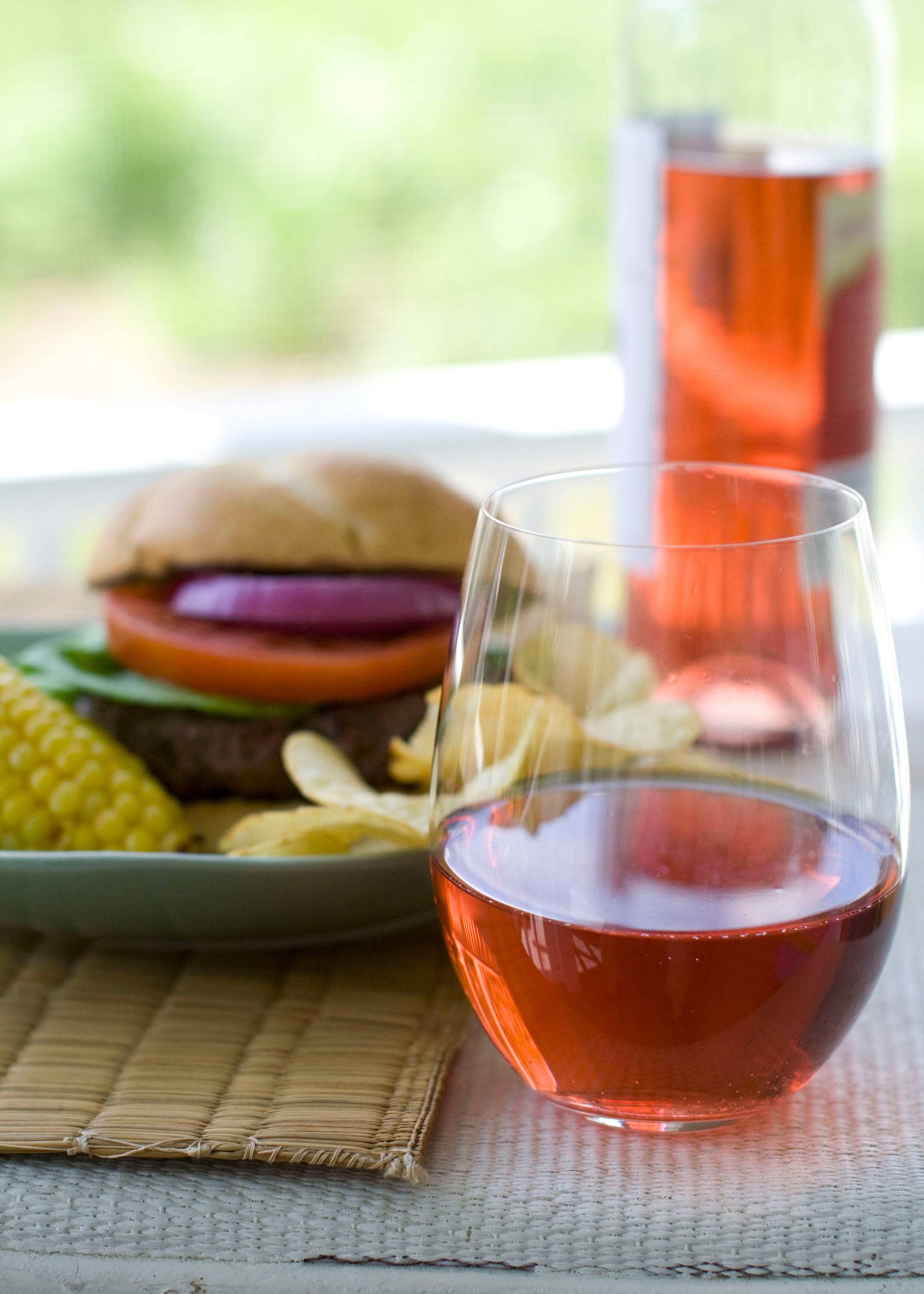 Rosés pair well with warm-weather foods.
