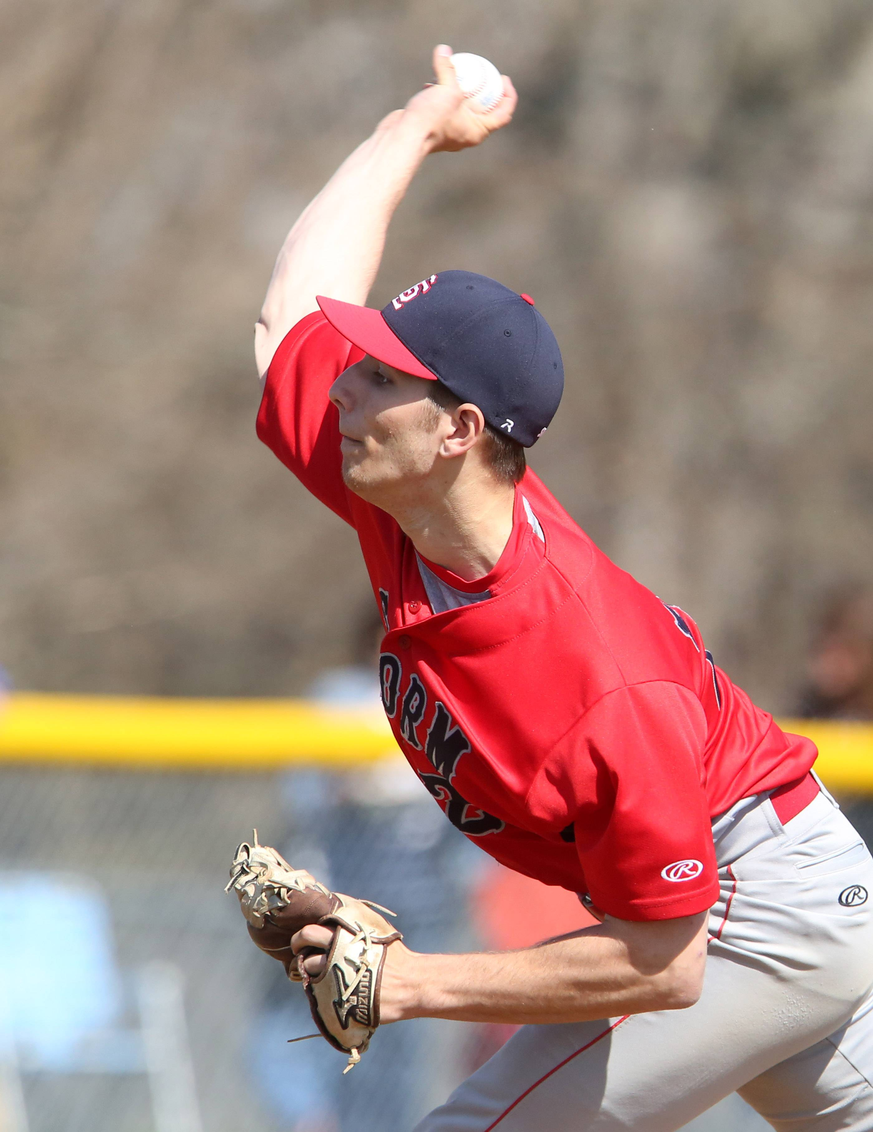 South Elgin's pitcher Ryan Weiss facing Bartlett on Saturday at South Elgin.