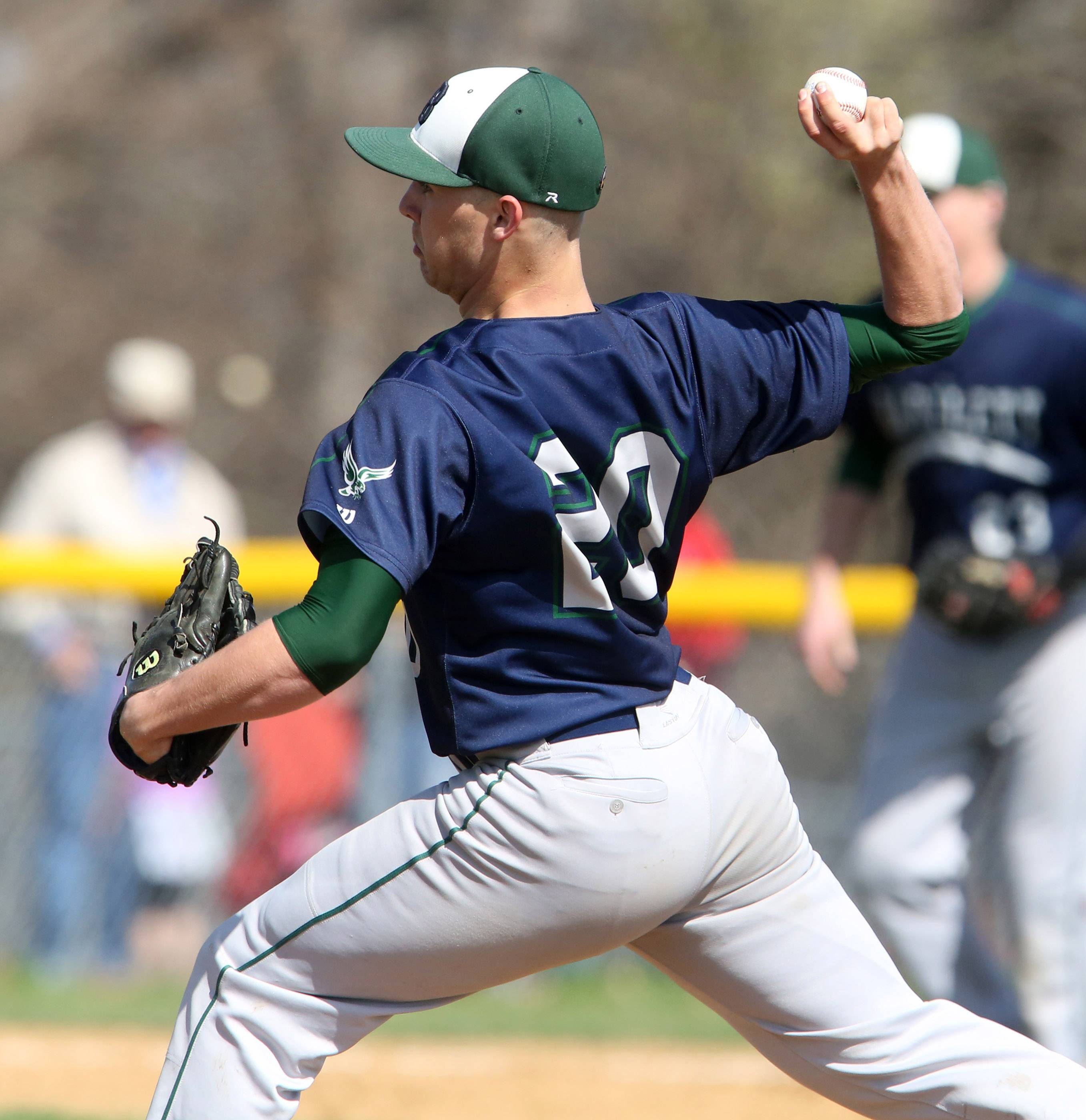 Bartlett pitcher Doug VanDyke facing South Elgin on Saturday at South Elgin.