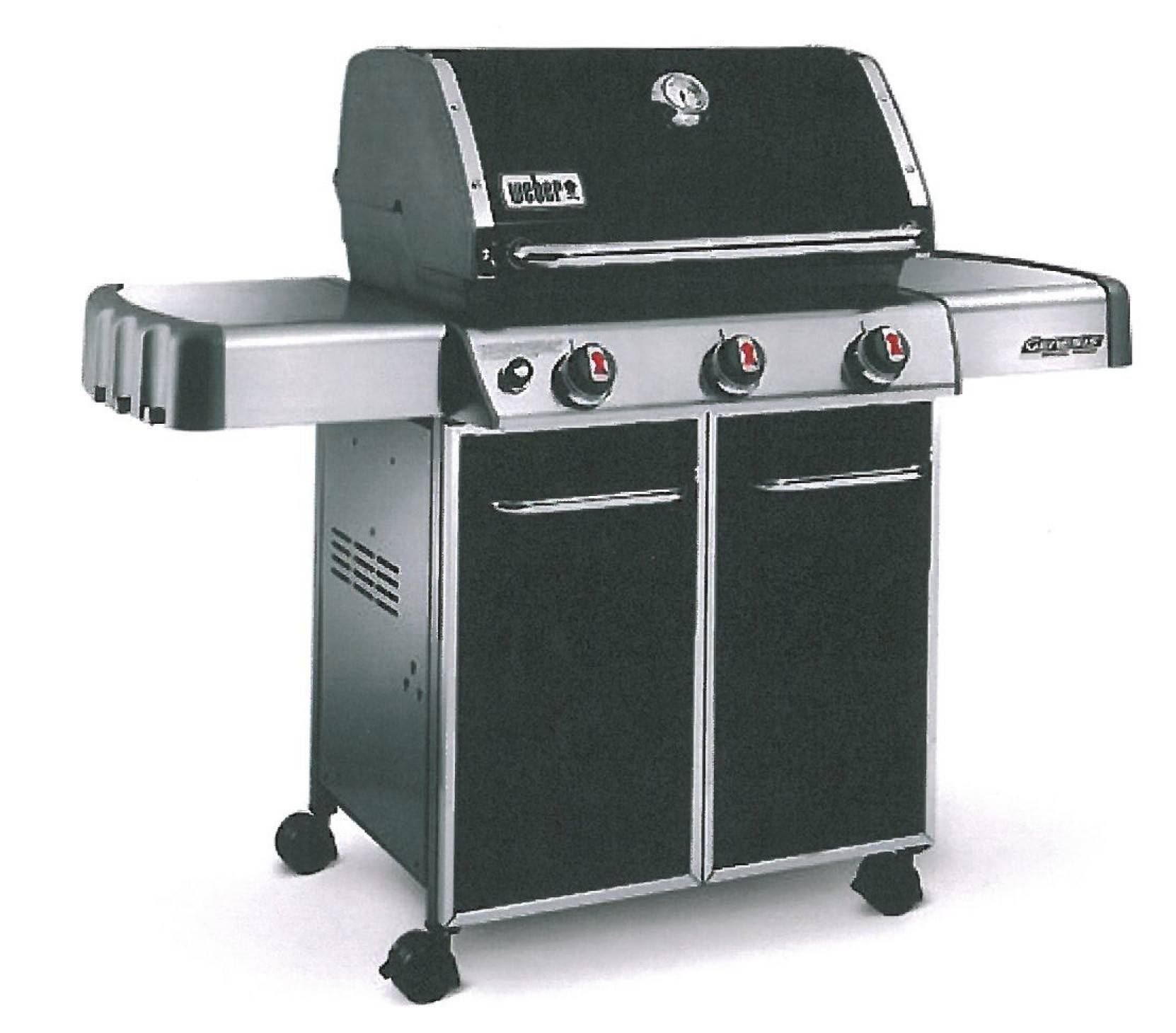 A Weber gas grill makes outdoor cooking easy.
