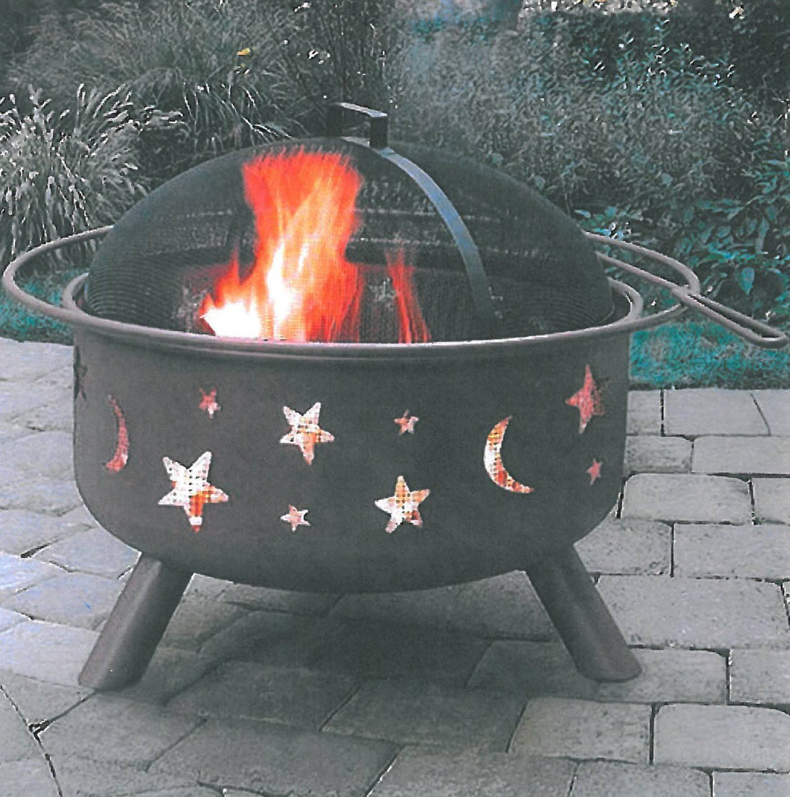 The Landmann Stars and Moon fire pit can make cool spring evenings cozy.