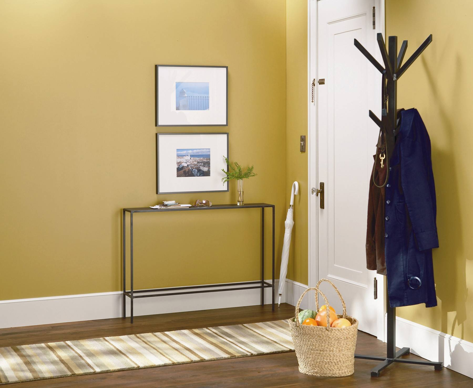 Small apartments or tiny cottages often lack an entry foyer, so those living in confined arrangements need to create their own version.