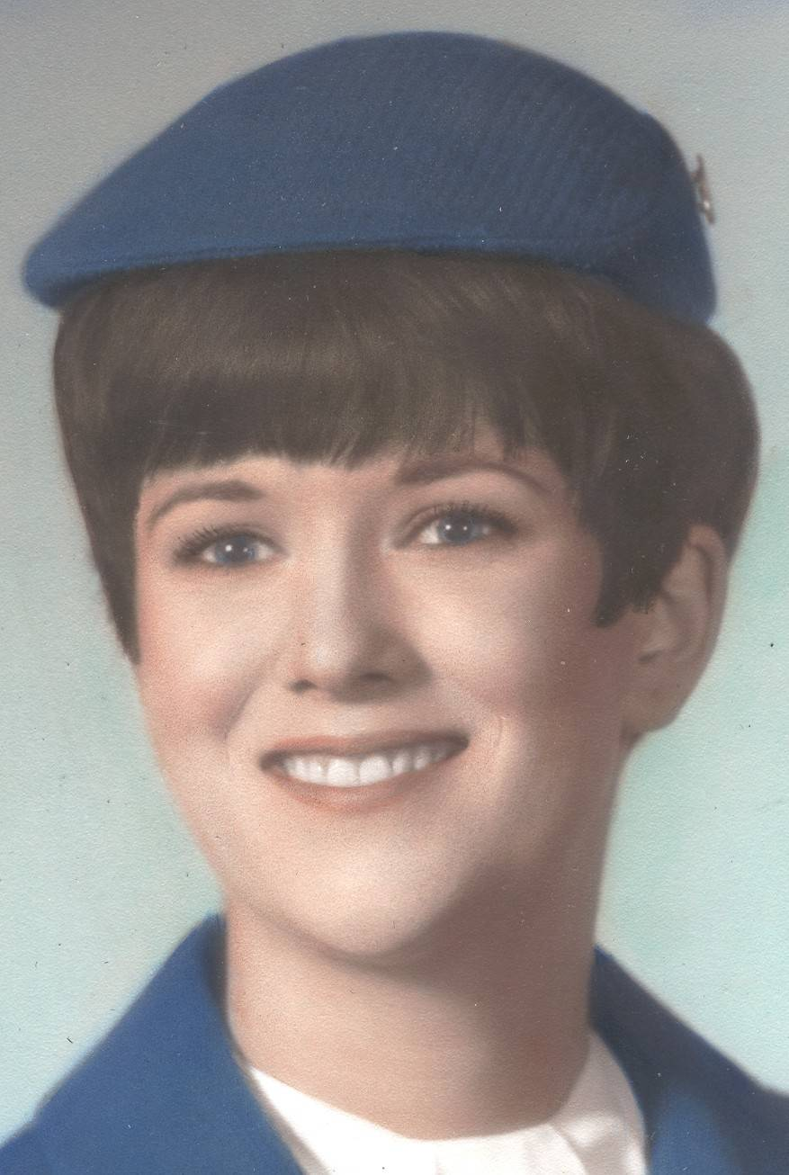 "After her graduation on May 1, 1968, Shari Worrell became a ""stewardess"" for United Airlines in an era that demanded she wear a skirt, high heels, false eyelashes and a girdle."