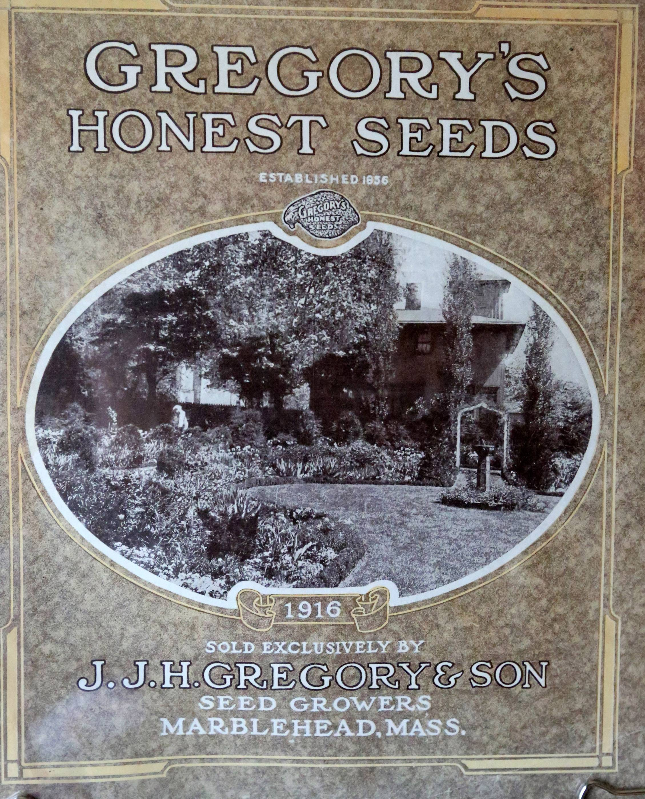 The products featured in this 1916 catalog were sold exclusively by Gregory's Honest Seeds.