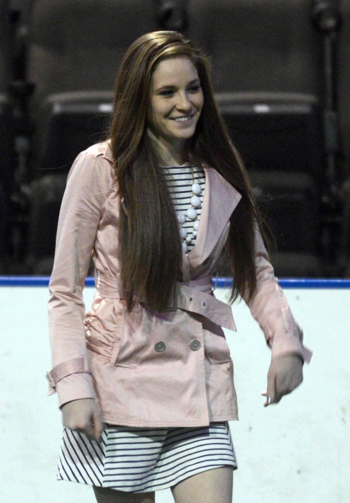 Noreen Caporusso of Prospect High School walks to the stage to receive a Heart & Soul Award as part of the Daily Herald Prep Sports Excellence event at the Sears Centre in Hoffman Estates on Sunday afternoon. Caporusso returned from severe knee injury to lead the Prospect girls golf team to a state title.