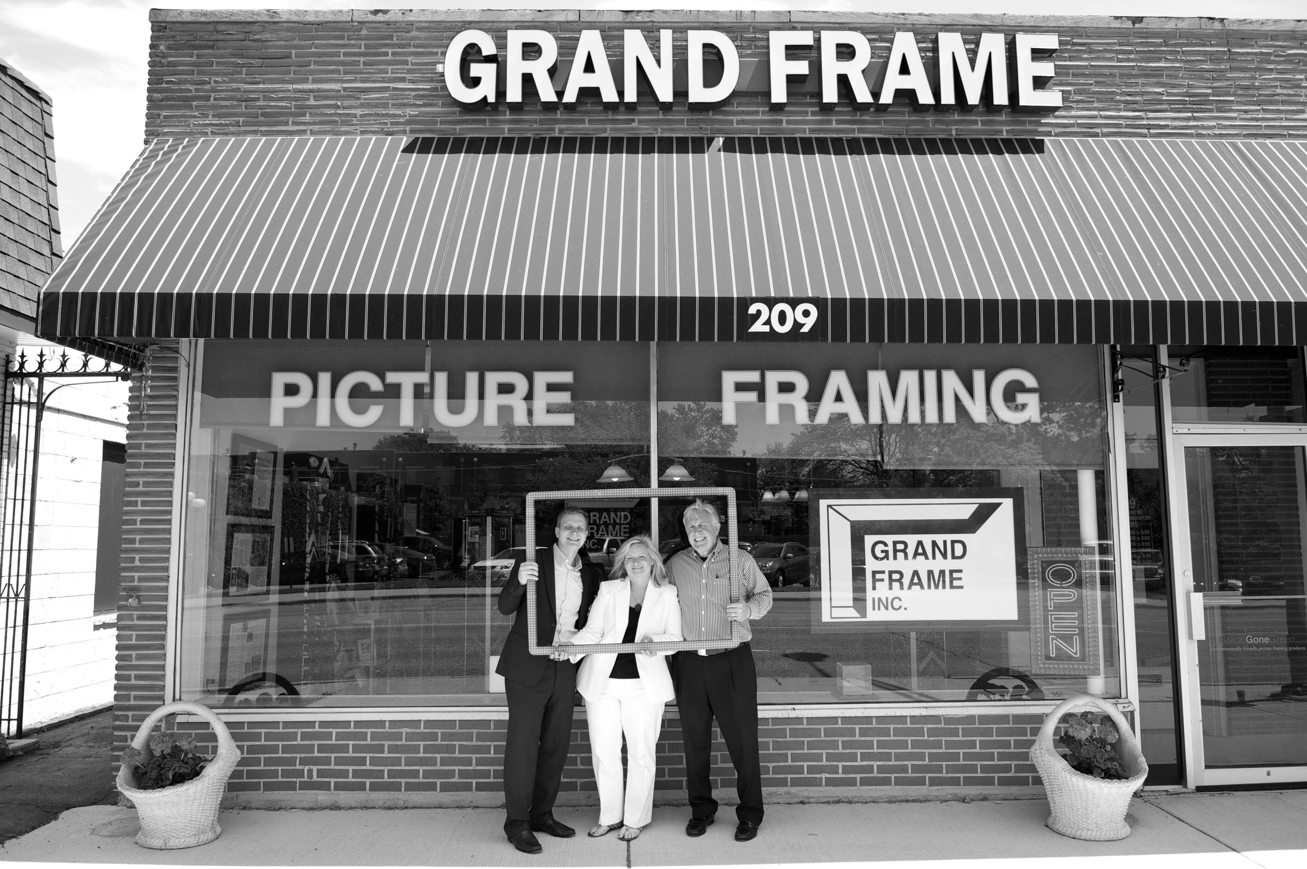 Photo Courtesy of Grand Frame Inc. Matthew Grana and his parents, Carrie and Gary Grana continue to operate Grand Frame Inc. in Arlington Heights.