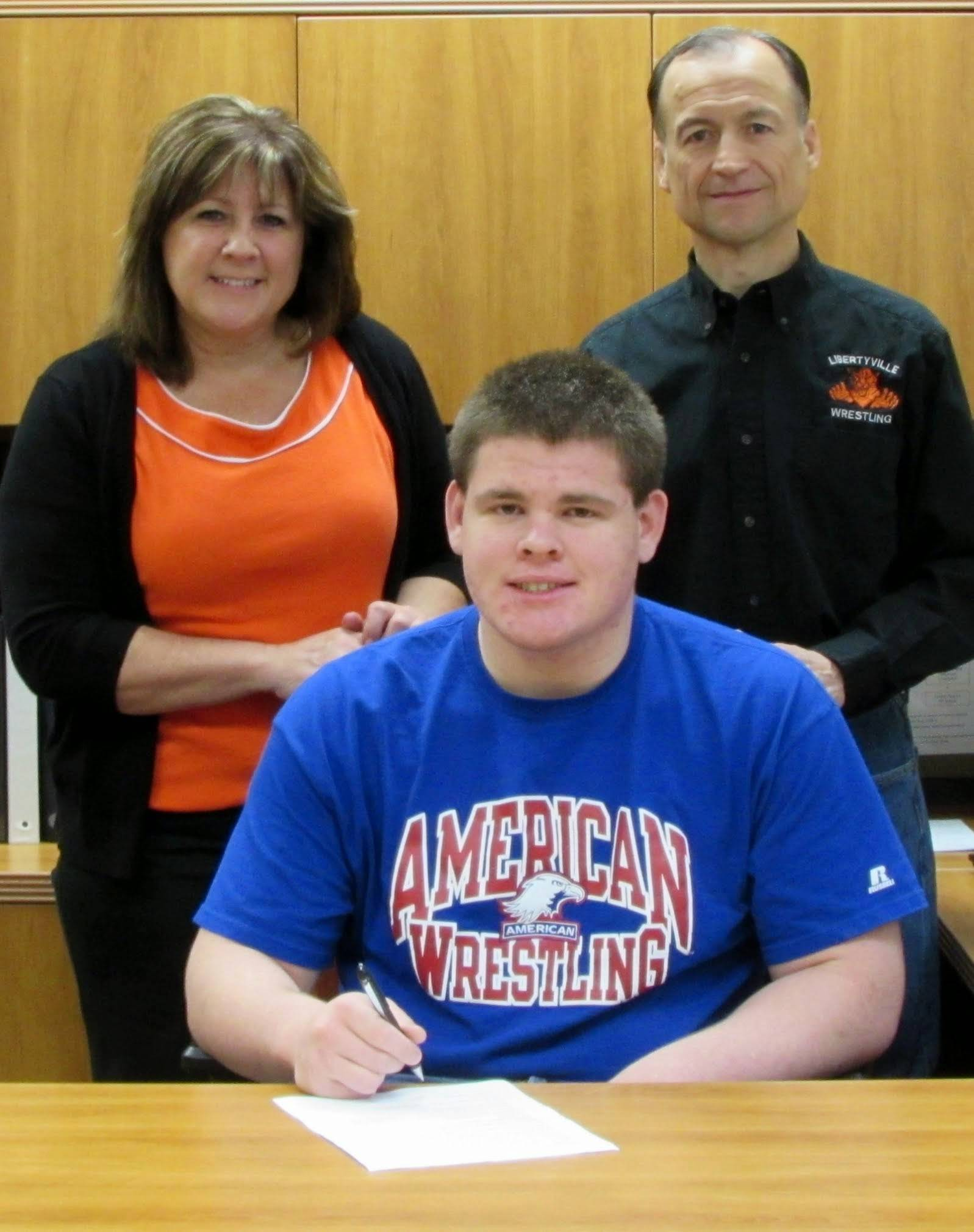 Libertyville's Chris McDermand has committed to wrestle at American University.