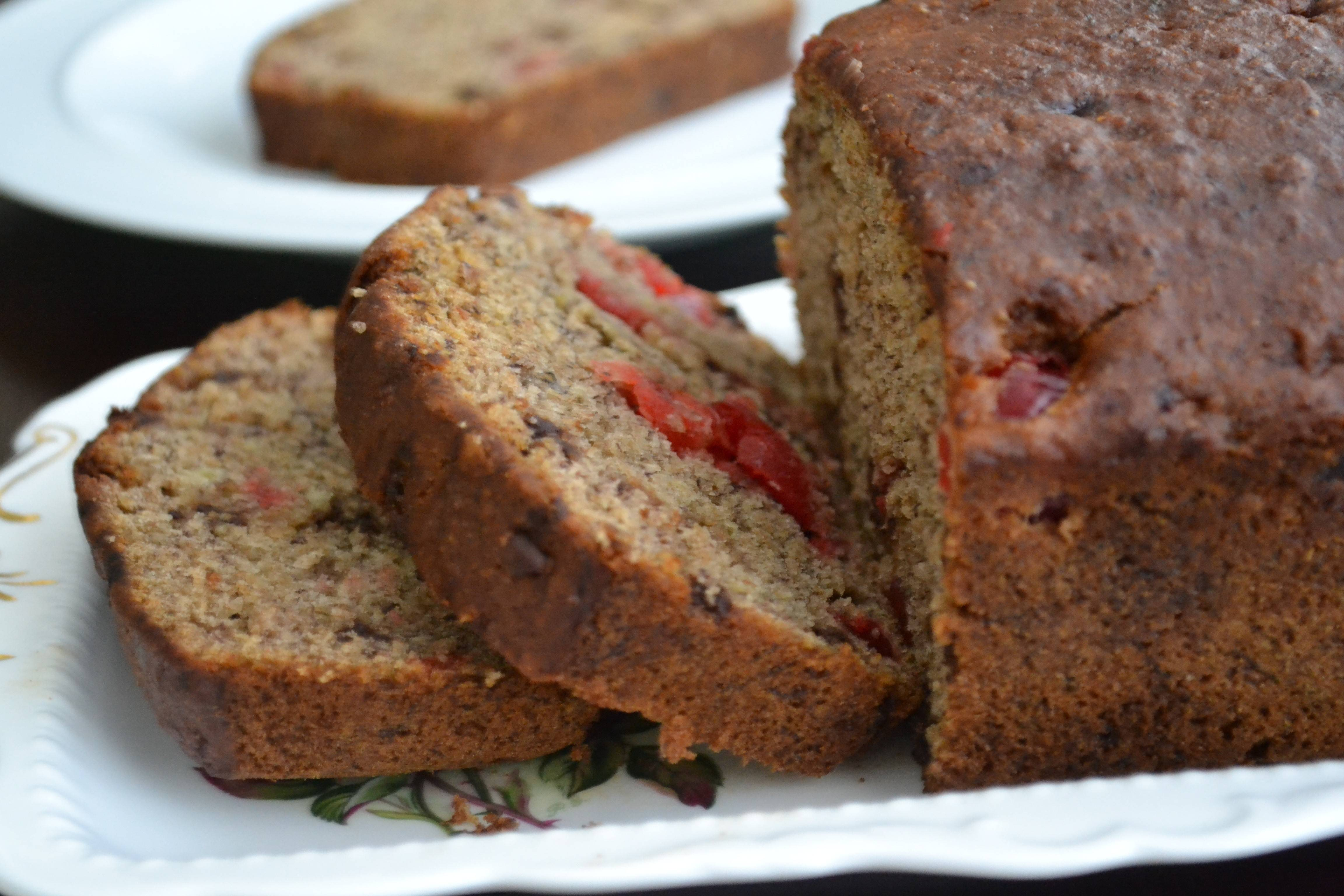Cherries and chocolate chips perk up banana bread.