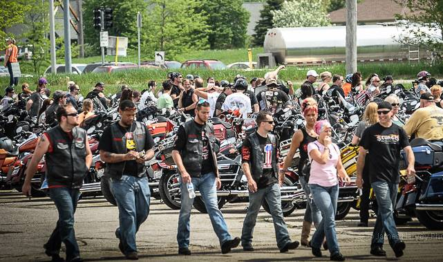 The Little Angels Pledge Run started in 1988 as a small group of bikers who wanted to do some charity work and reach out to the community, but has now grown into one of the largest biker charity events in the Midwest.