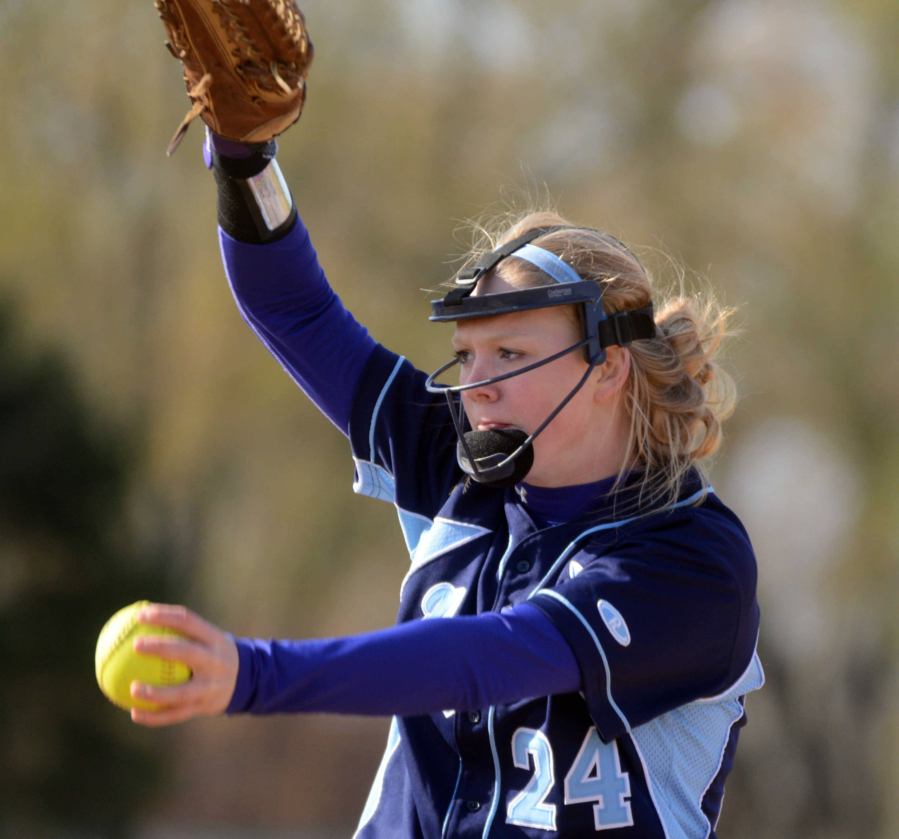 Prospect hurler Delilah Malczewski delivers against Conant on Monday.