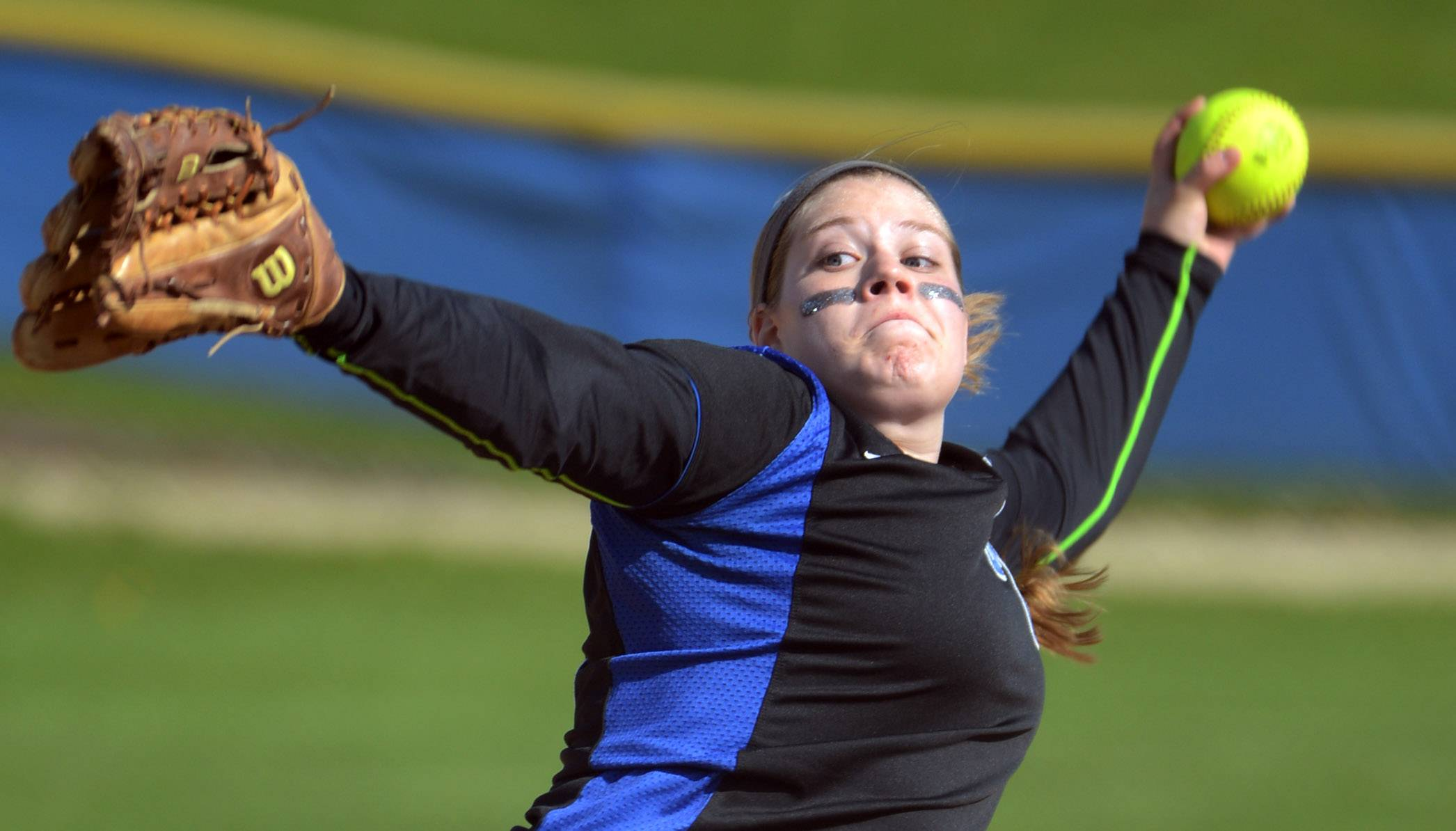 Lake Zurich pitcher Olivia Schneider faces a Zion-Benton batter on Monday.