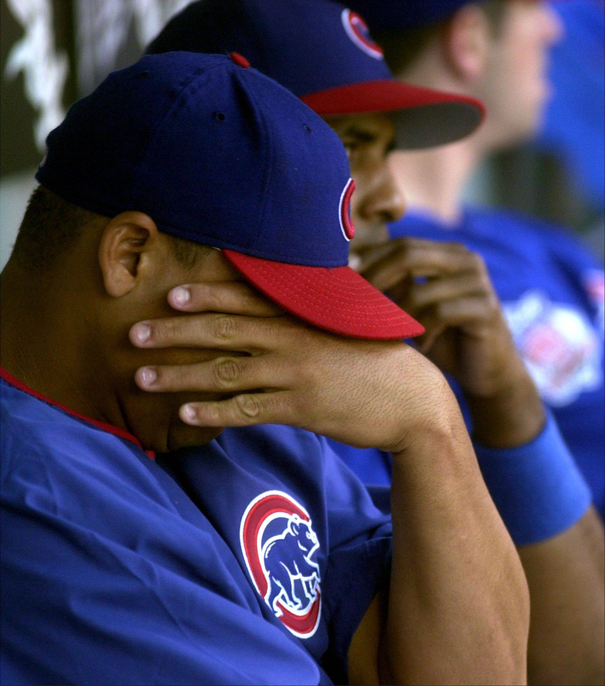 Cubs starter Carlos Zambrano after losing to the Sox Saturday.