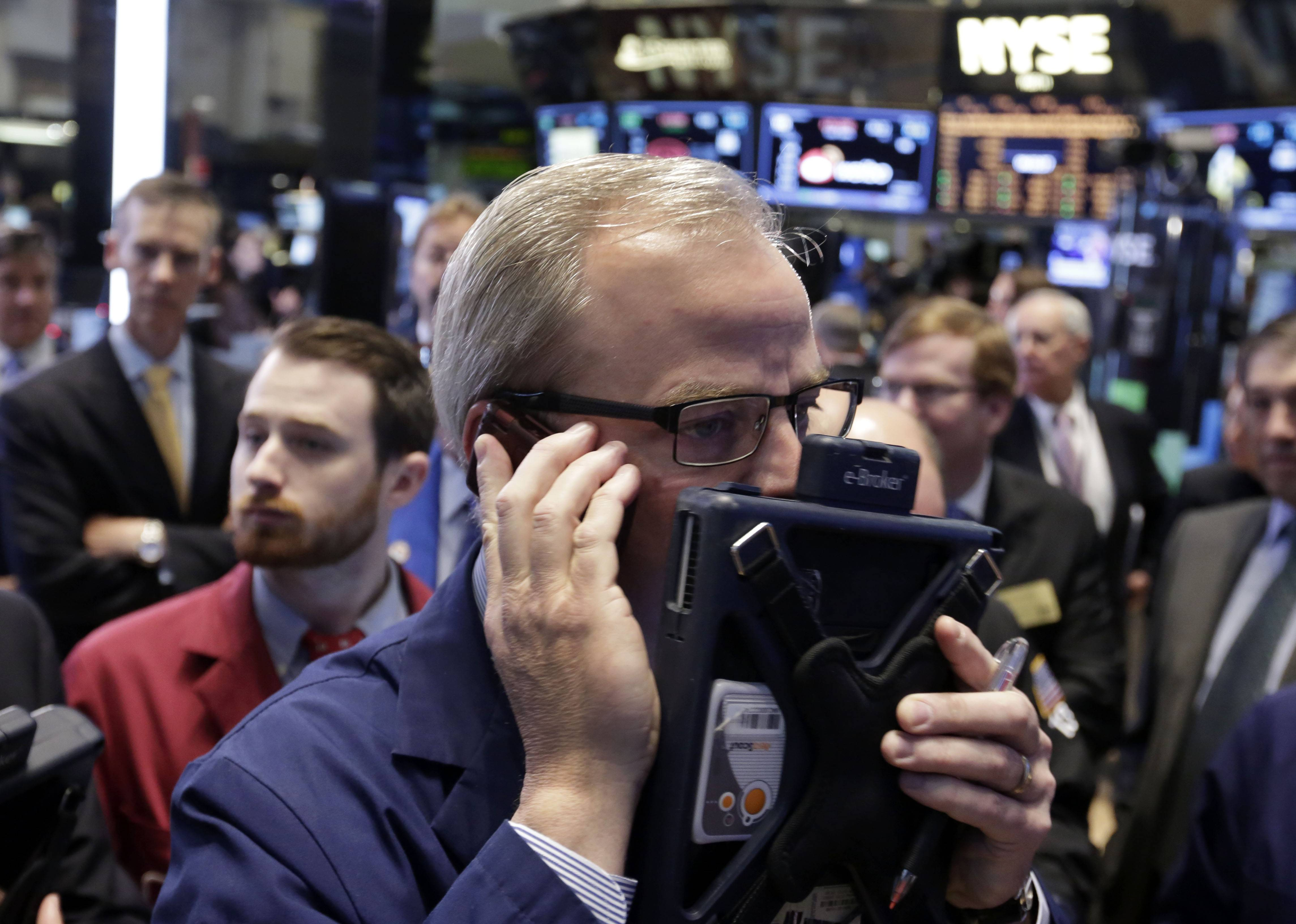 U.S. stocks fell broadly Tuesday as investors found little to cheer in corporate earnings reports. A plunge in Twitter led Internet companies sharply lower.