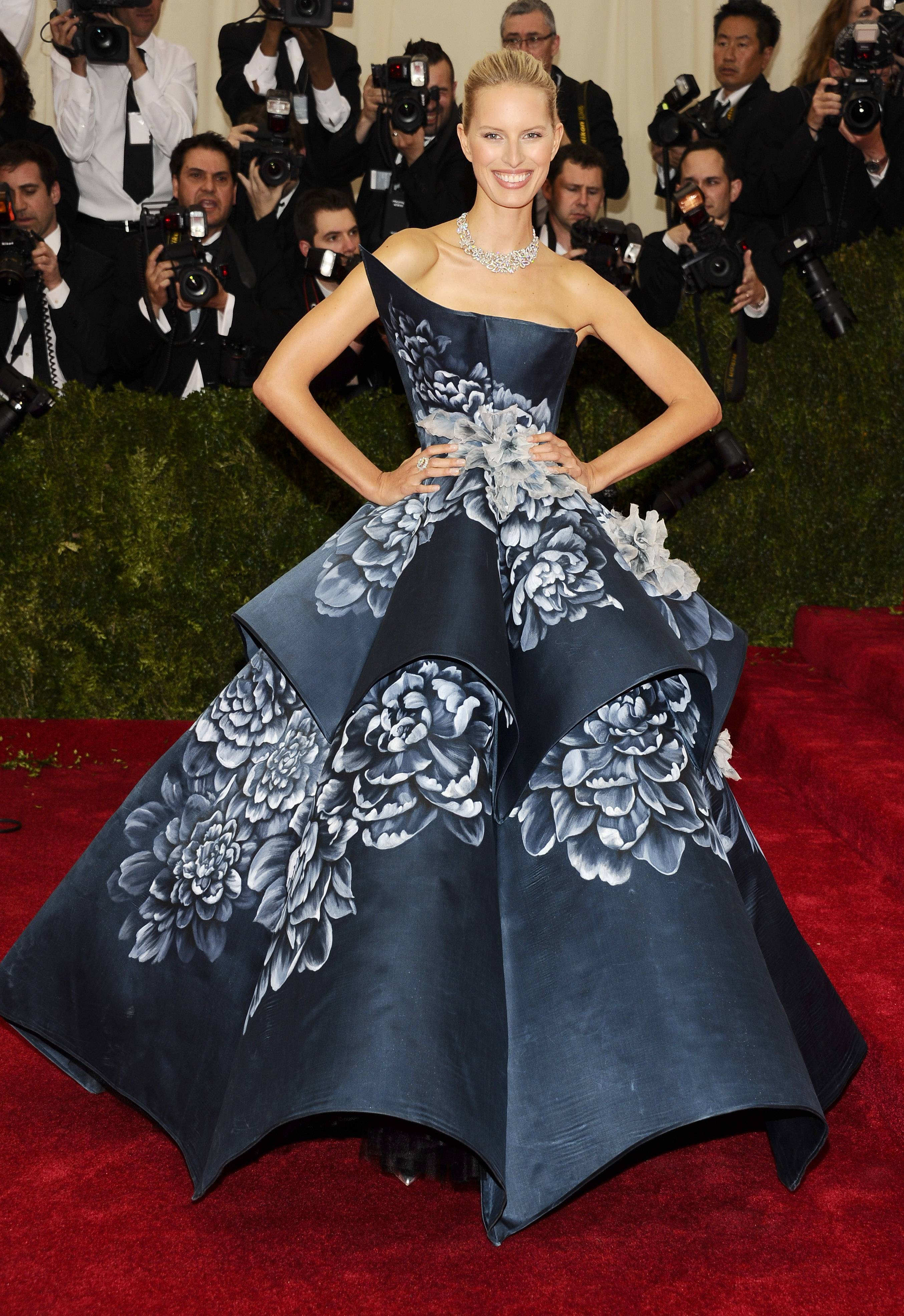 "Karolina Kurkova attends The Metropolitan Museum of Art's Costume Institute benefit gala celebrating ""Charles James: Beyond Fashion"" on Monday in New York."