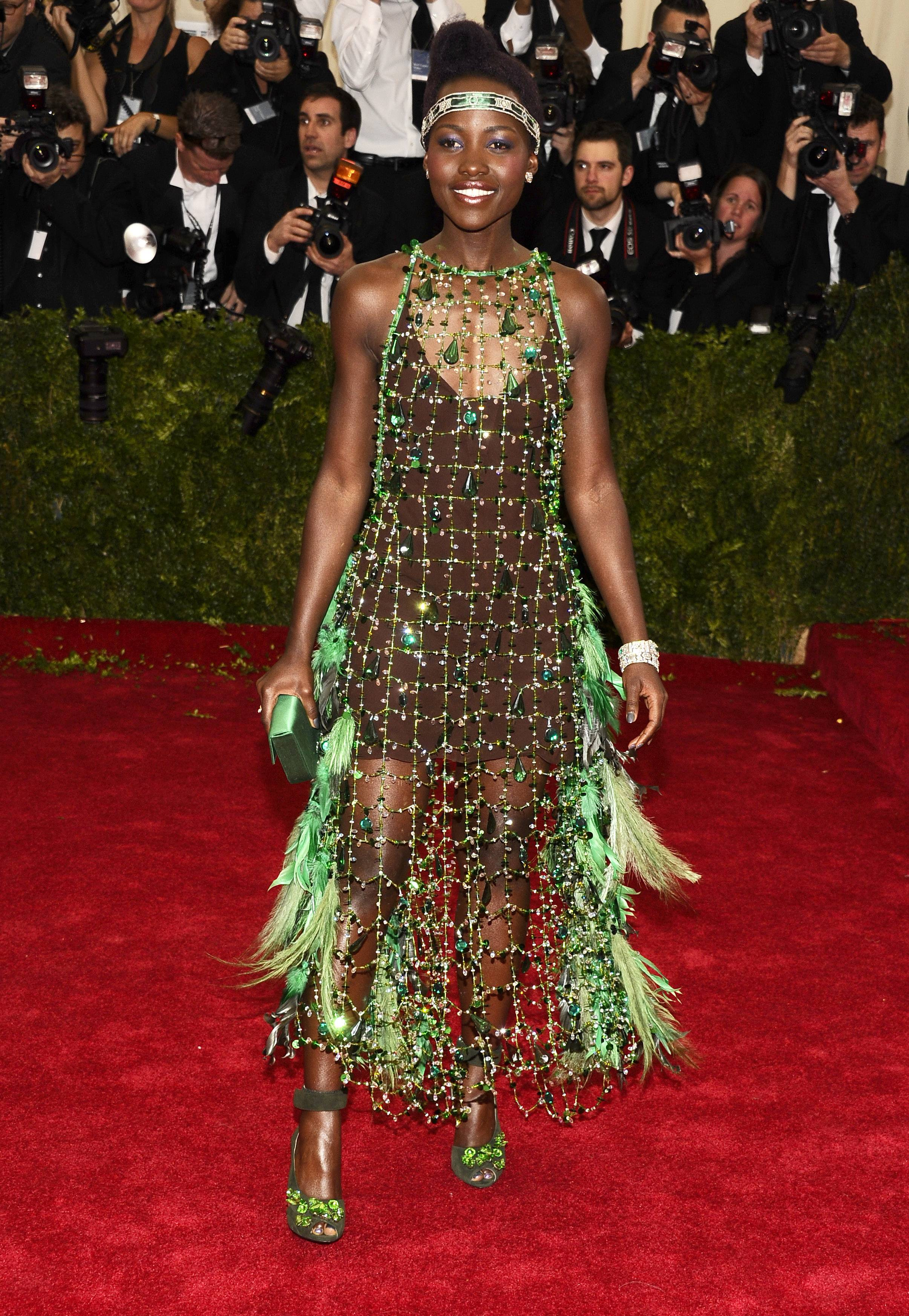 Lupita Nyong'o attends The Metropolitan Museum of Art's Costume Institute benefit gala Monday.