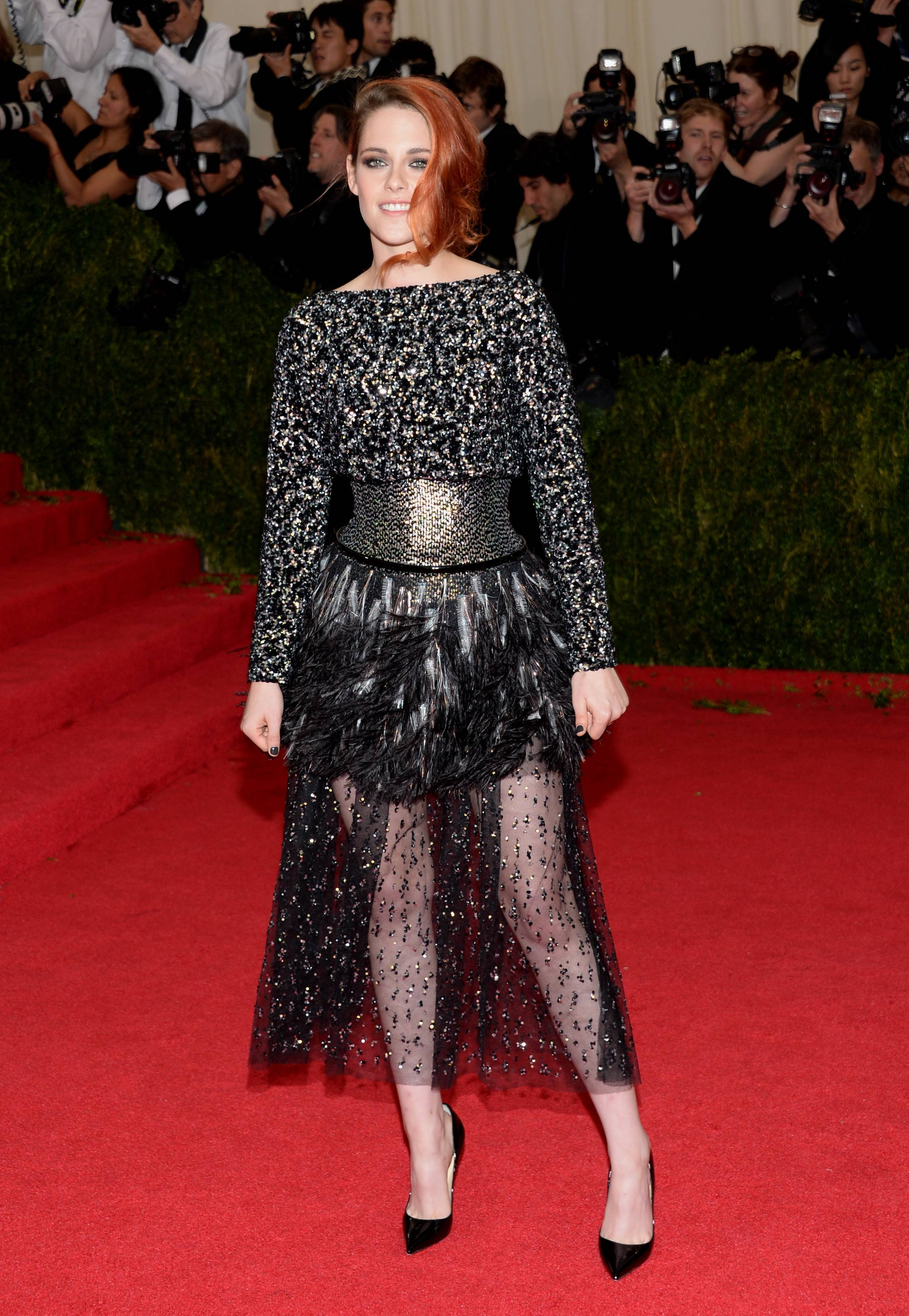 Kristen Stewart went for all black at The Metropolitan Museum of Art's Costume Institute benefit gala.