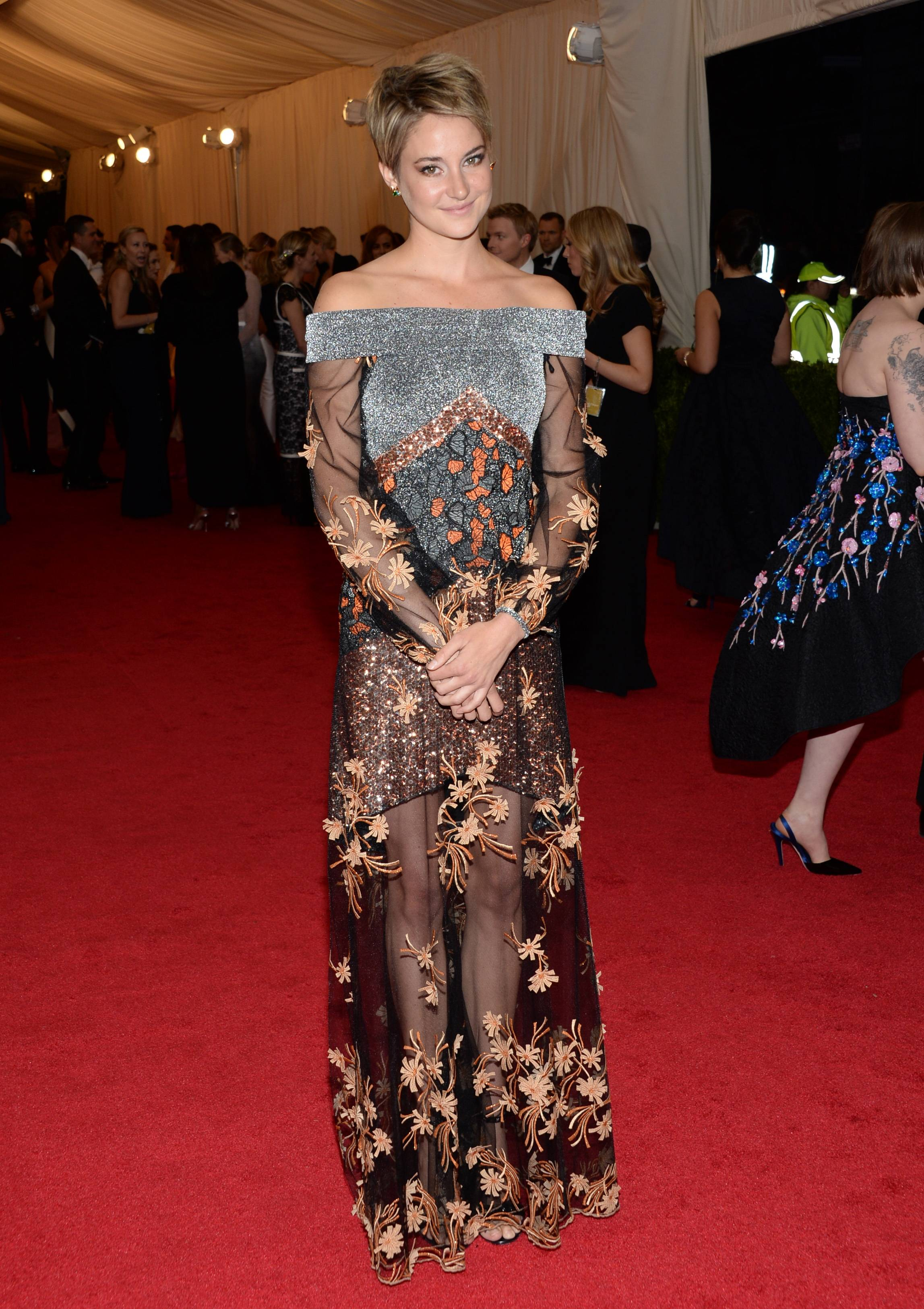 Shailene Woodley attends The Metropolitan Museum of Art's Costume Institute benefit gala Monday.