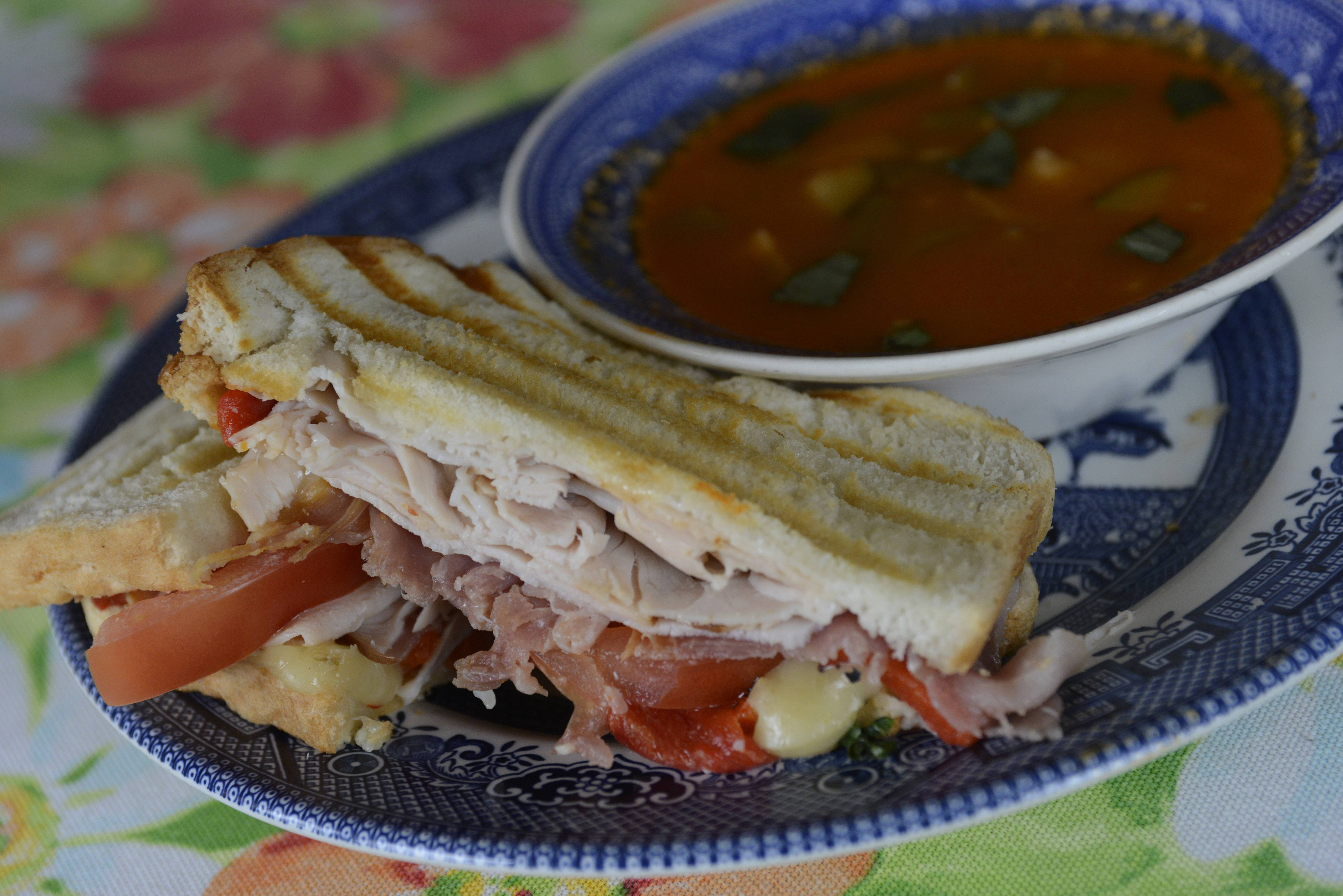 Joe Lewnard/jlewnard@dailyherald.comSoup and sandwich prepared by Cook of the Week Tim Cruz of Des Plaines,