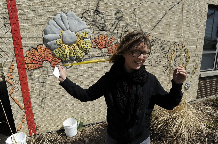 """Doing public art with a group of people really allows you to get a sense of community and accomplishment,"" says Anna Soltys. ""And it just works as this awesome reminder of what you're capable of."""