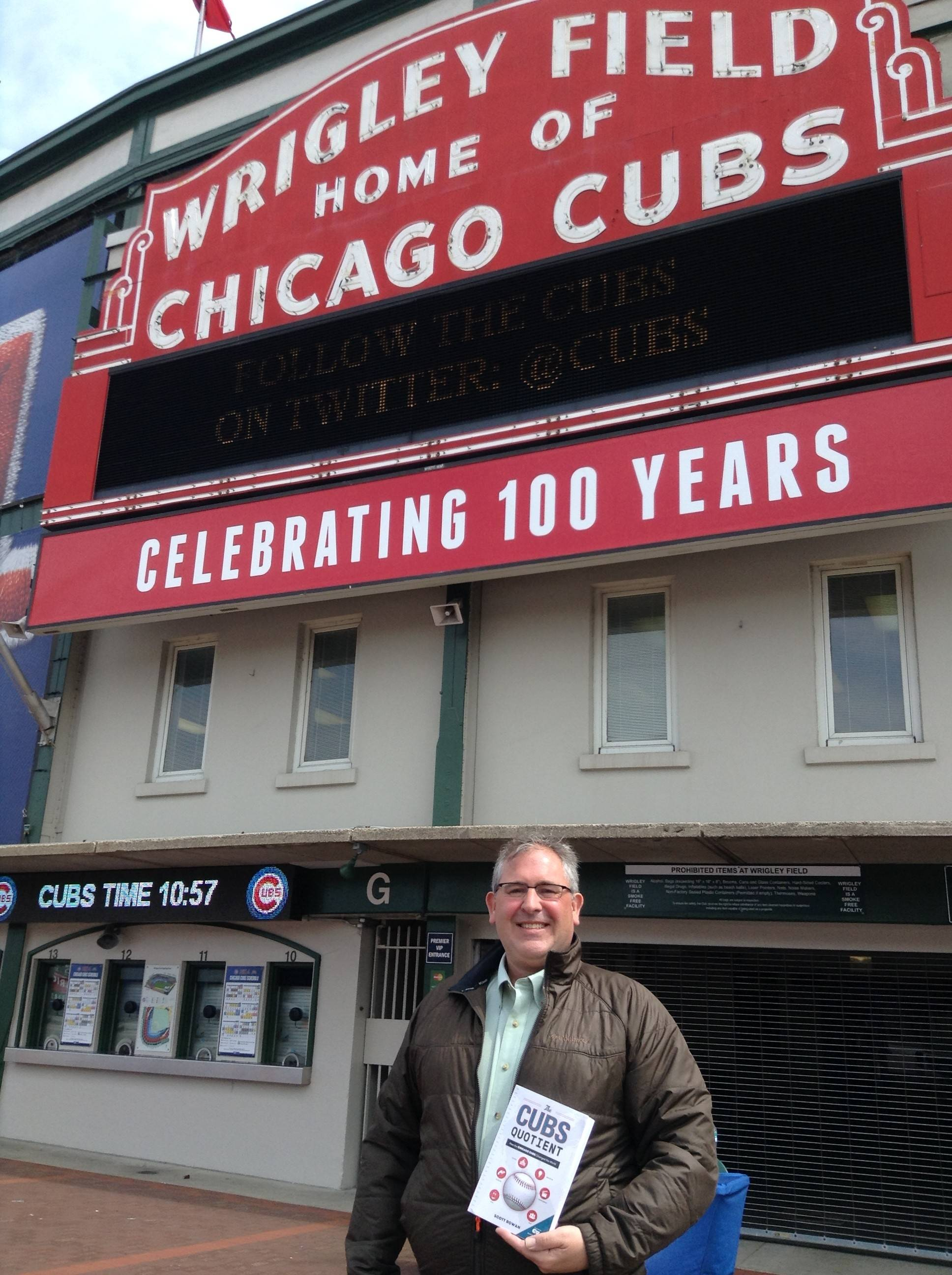 "The Cubs play an important role throughout history when it comes to politics, race, entertainment, scandals and even presidents and gangsters, says Scott Rowan, who tells those stories in his new book, ""The Cubs Quotient: How the Chicago Cubs Changed the World."""