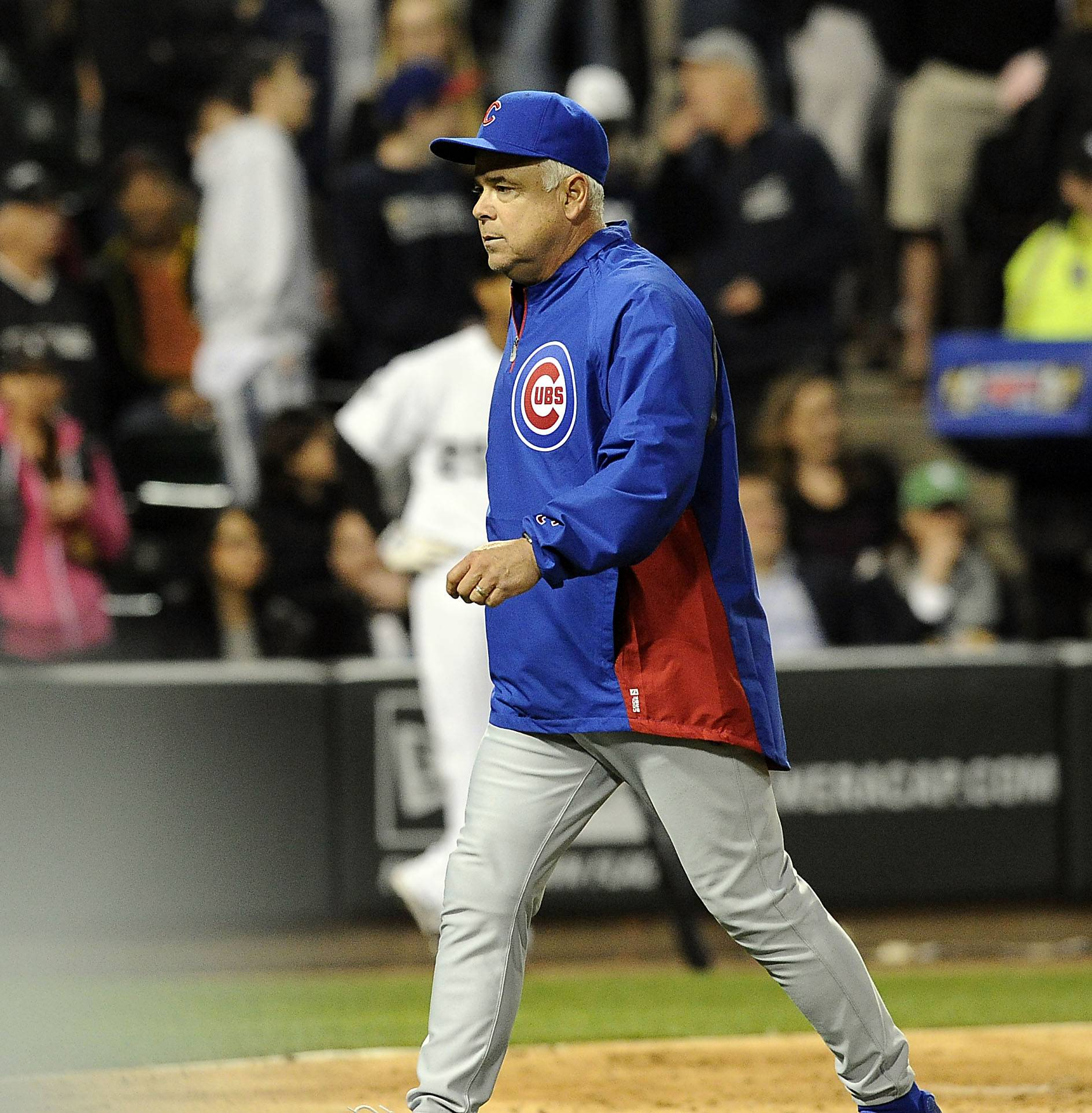 Cubs manager Rick Renteria is tossed from the game Wednesday by home plate umpire Tom Woodring.