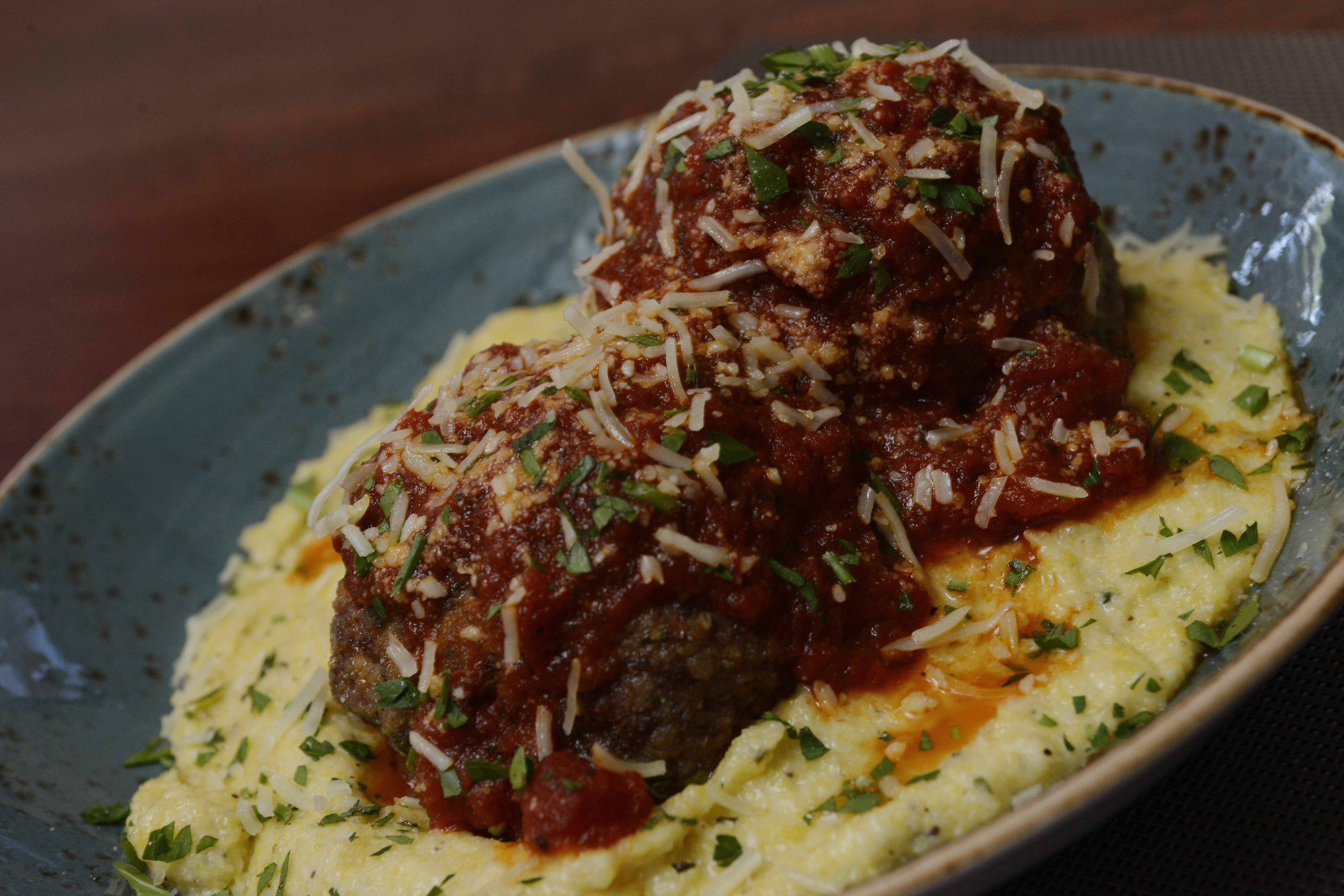 Zeal's meat-stuffed meatballs are not for the weak-hearted.