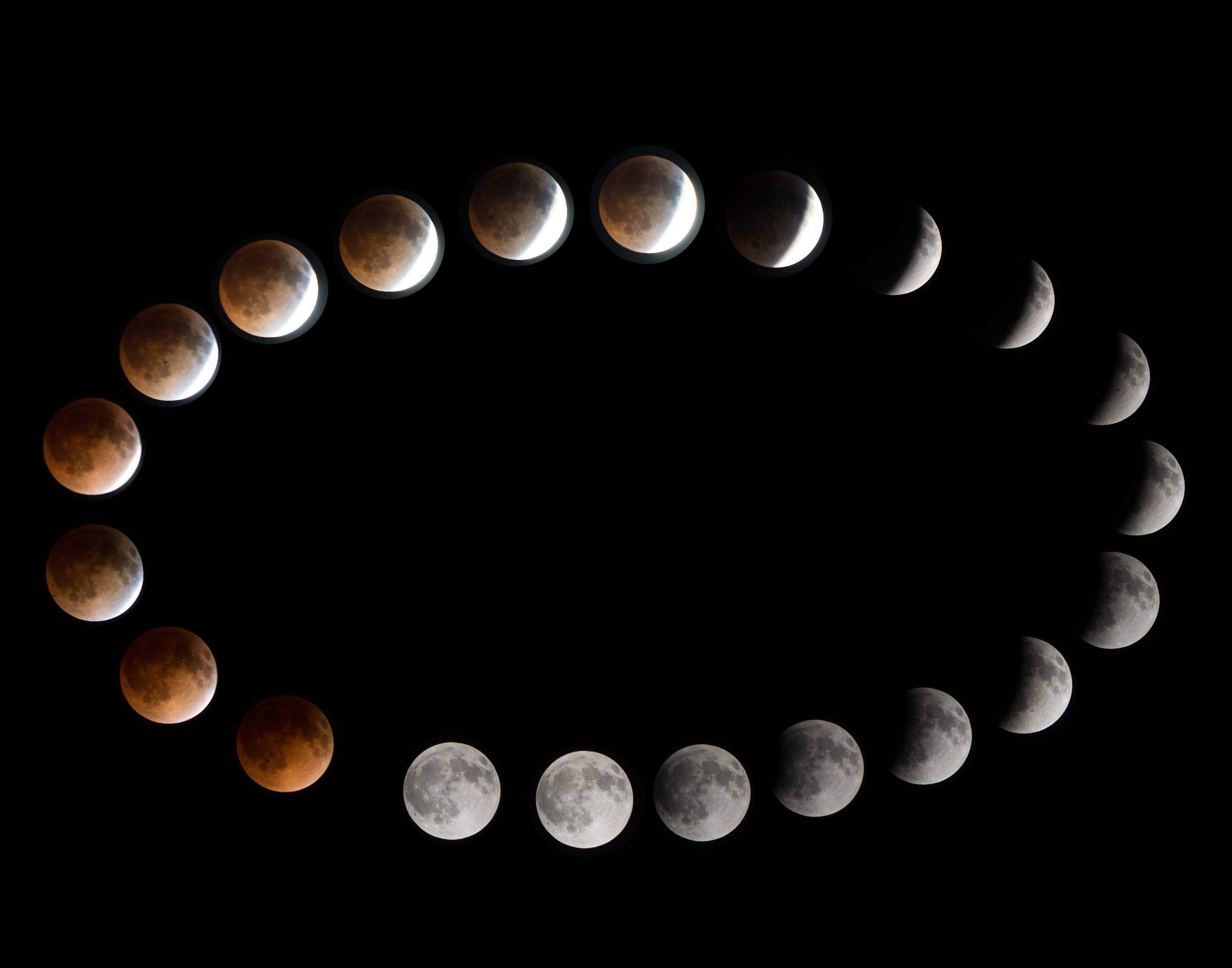David Neesley of Naperville won our April Photo Finish contest with this incredible work showing various stages of a lunar eclipse.