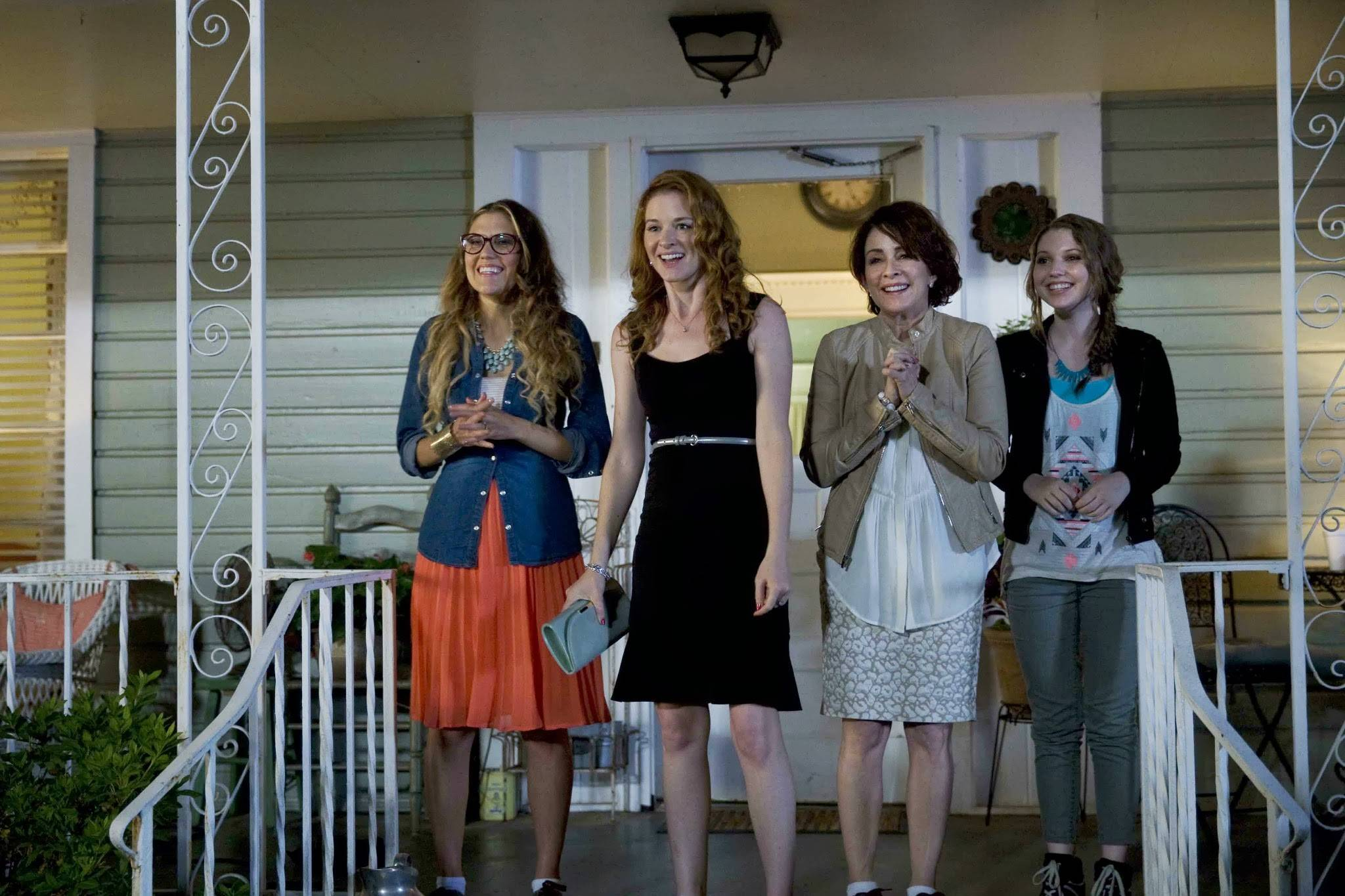 "Izzy (Andrea Logan White), left, Allyson (Sarah Drew), Sondra (Patricia Heaton) and Zoe (Sammi Hanratty) prepare for an evening of chaos in ""Moms' Night Out."""