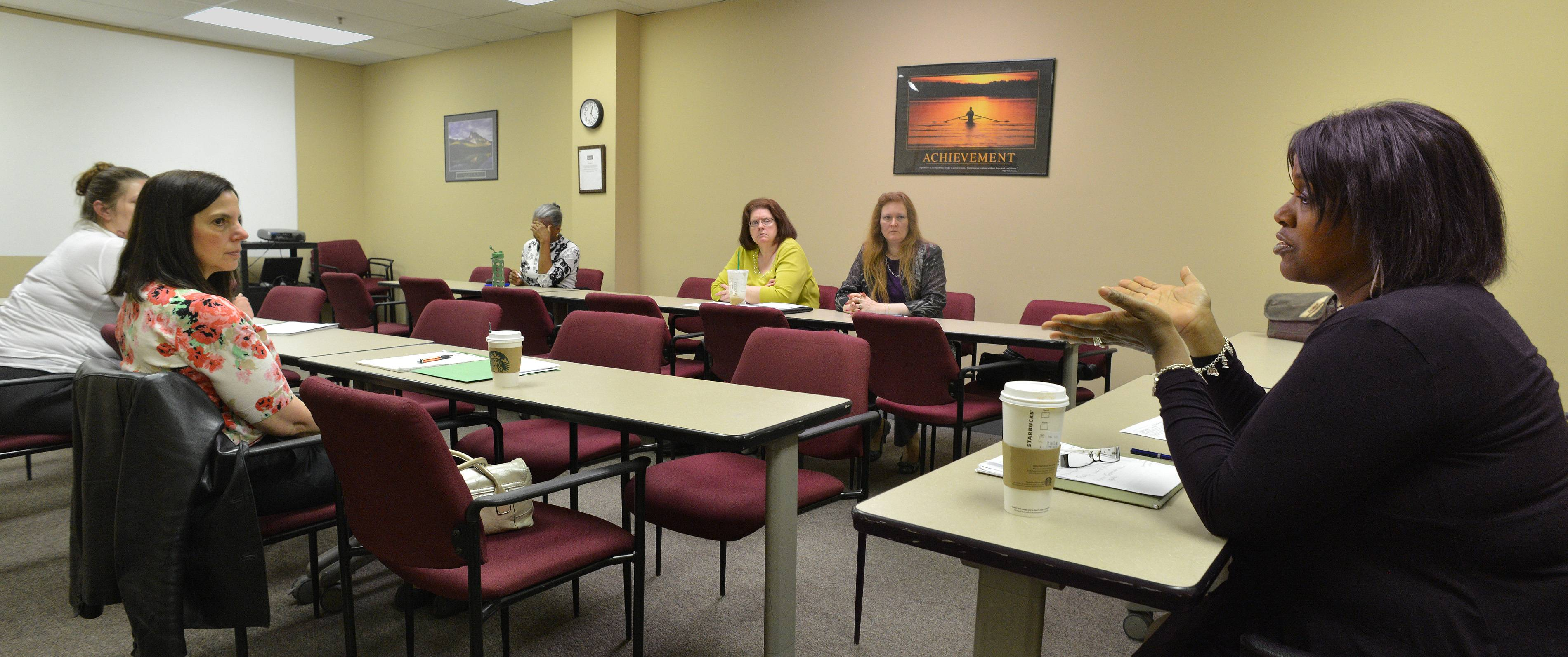 The Networking Opportunities for Women job search group meets in Naperville under the direction of Kimberly White, executive director of the Community Career Center. The group helps provide job search tips for moms returning to work and other women who are unemployed.