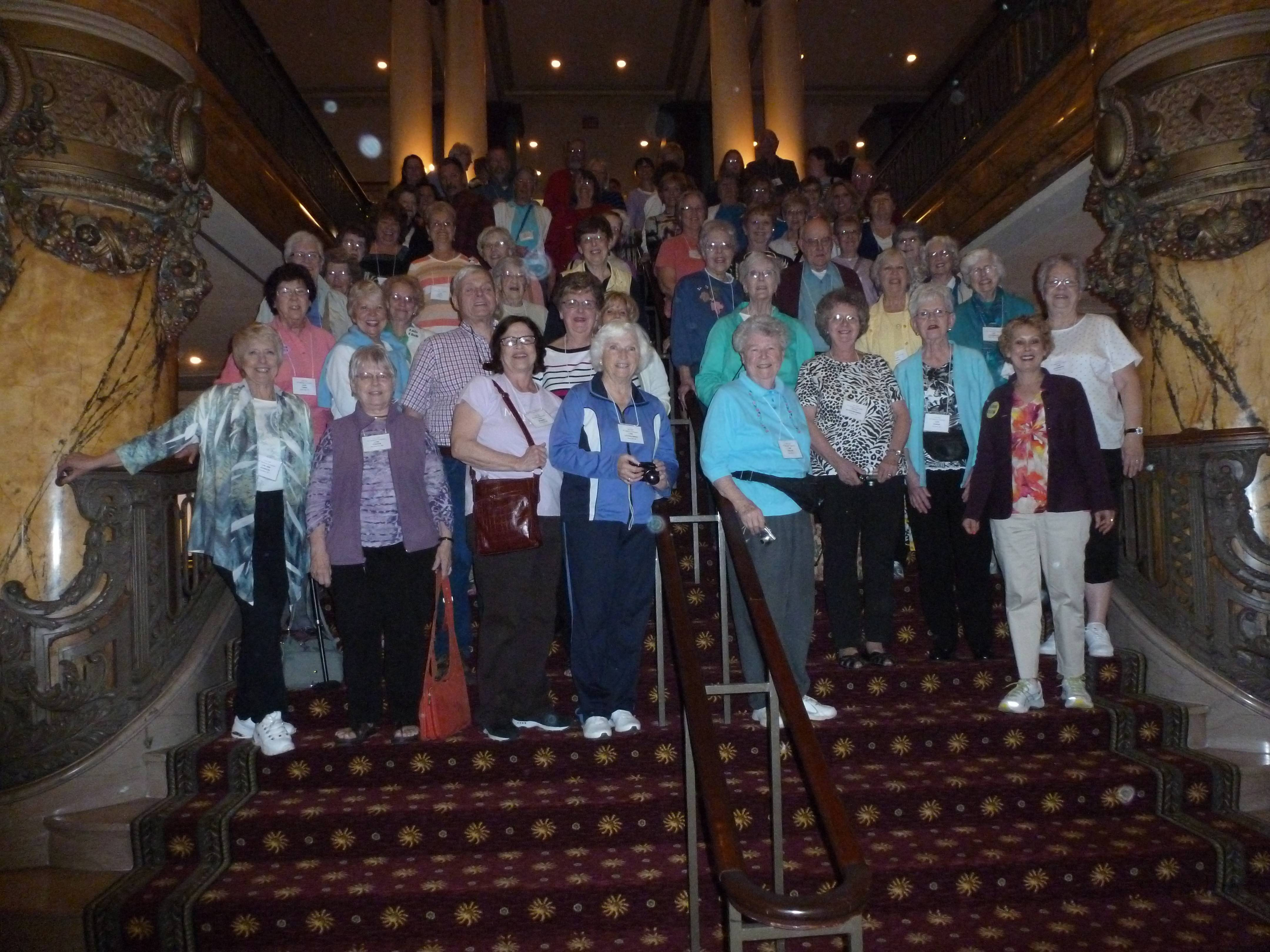 Members of the Lois Club pose for a photograph after high tea at The Jefferson Hotel in Richmond, Va., during their annual international convention in April. The club grows older and smaller as younger Loises are hard to find.