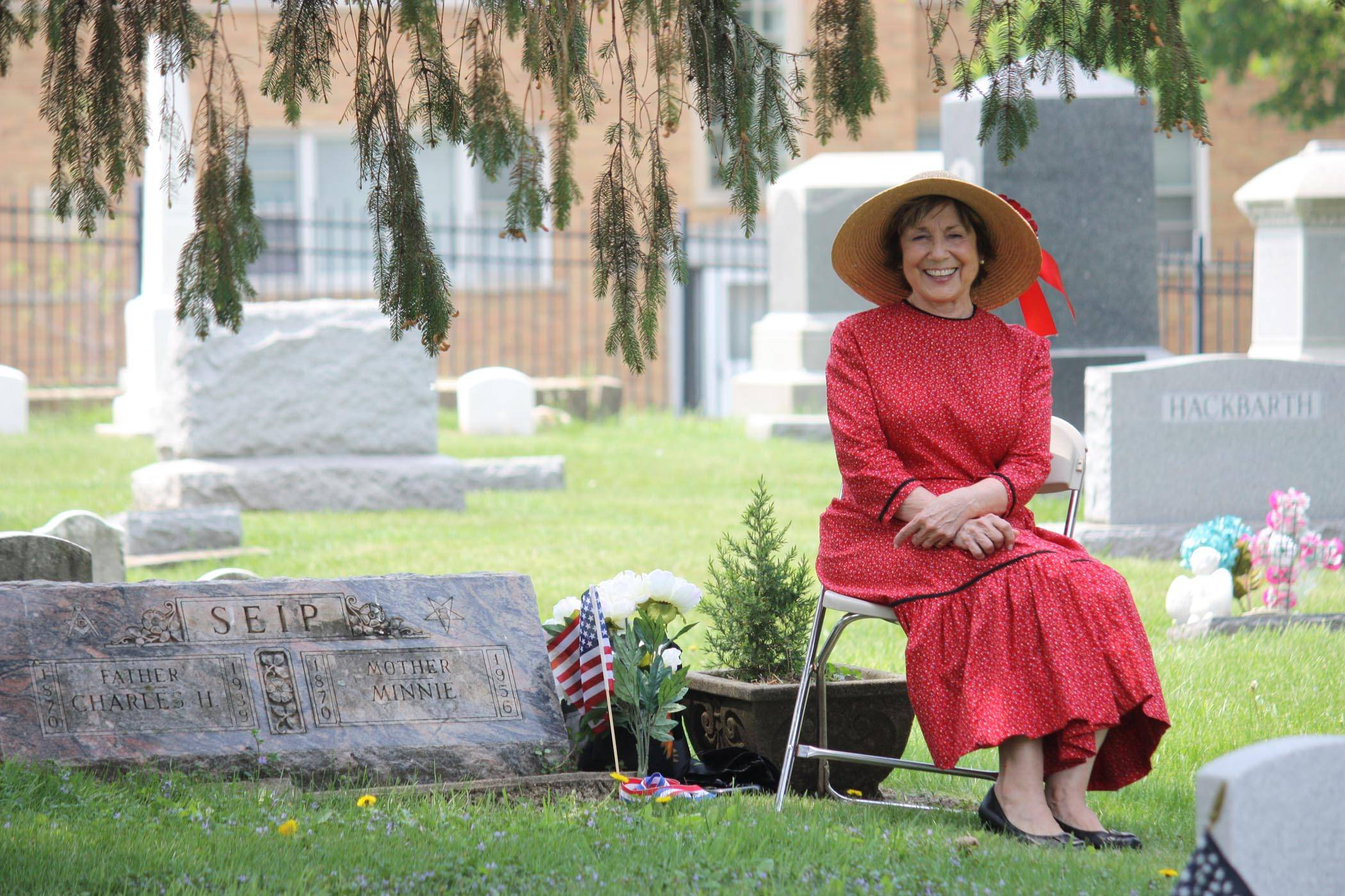 Costumed actors portray the lives of those buried in Hillside Cemetery.Palatine Park District