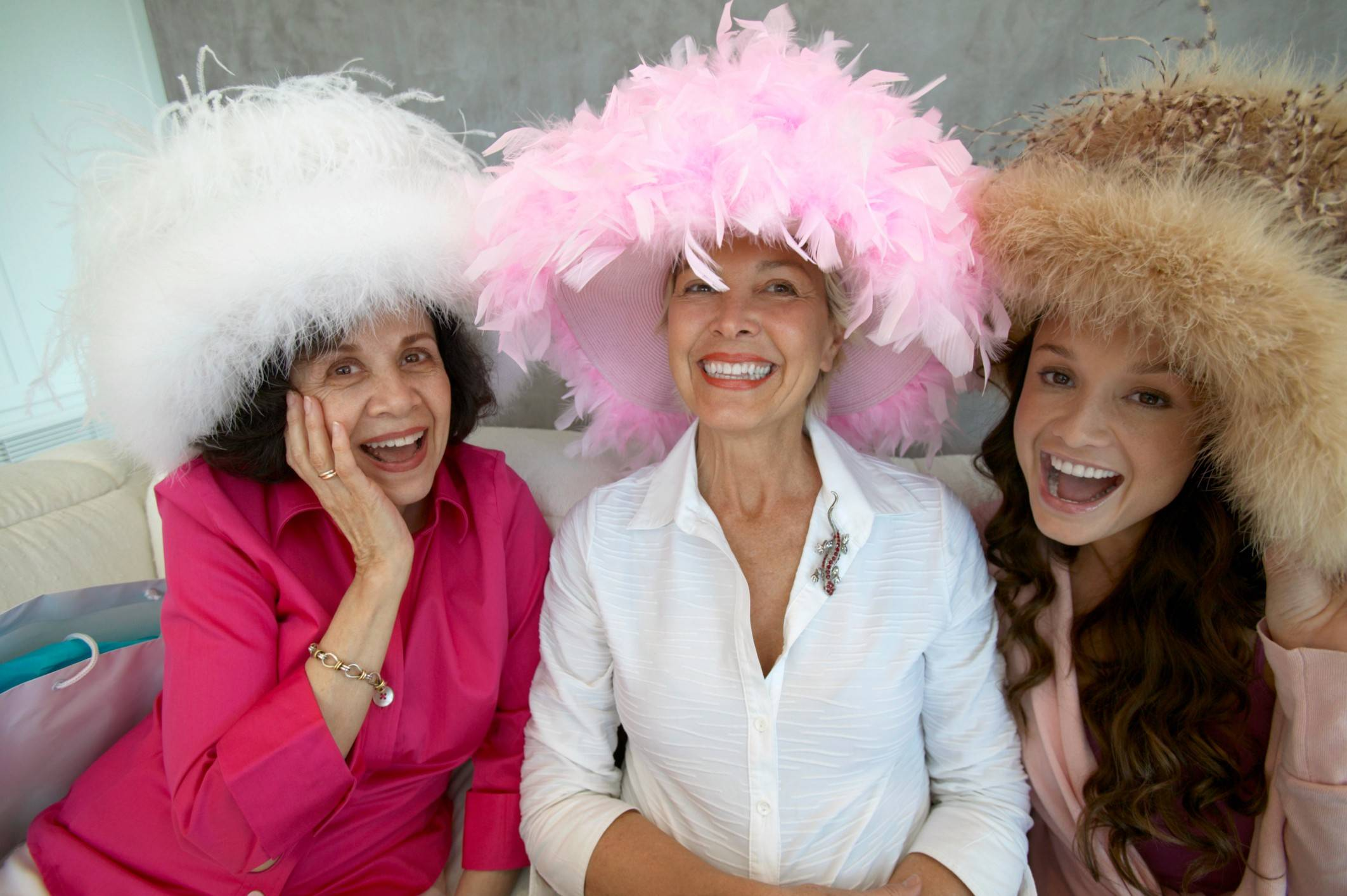 The woman who wears the most eccentric hat will win a prize at the Mother's Day celebration at the Montrose Room in Rosemont.