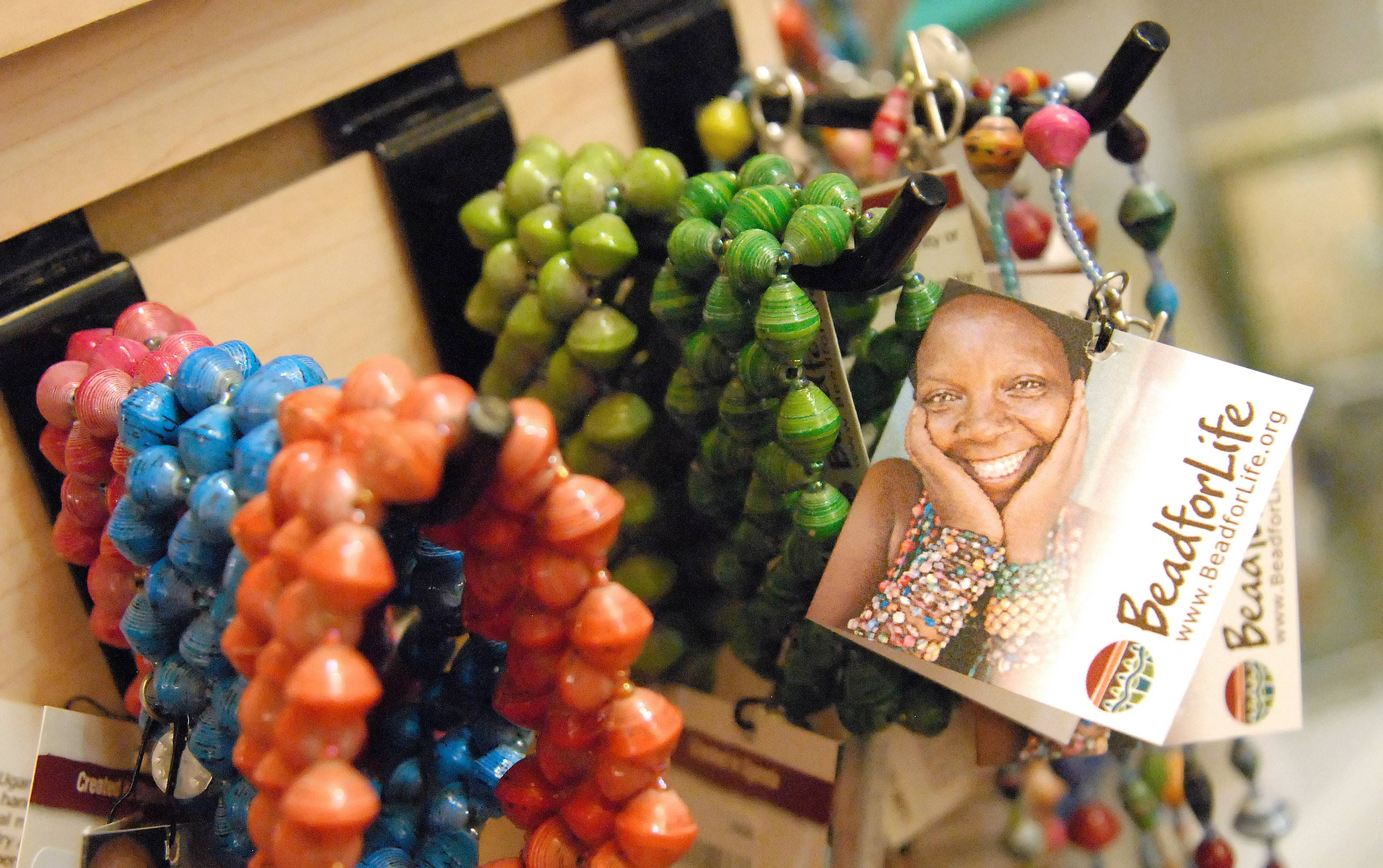 The Little Traveler in Geneva has added a Fair Trade Gallery to its many departments. Items include jewelry, bags, soaps, home decor and more.
